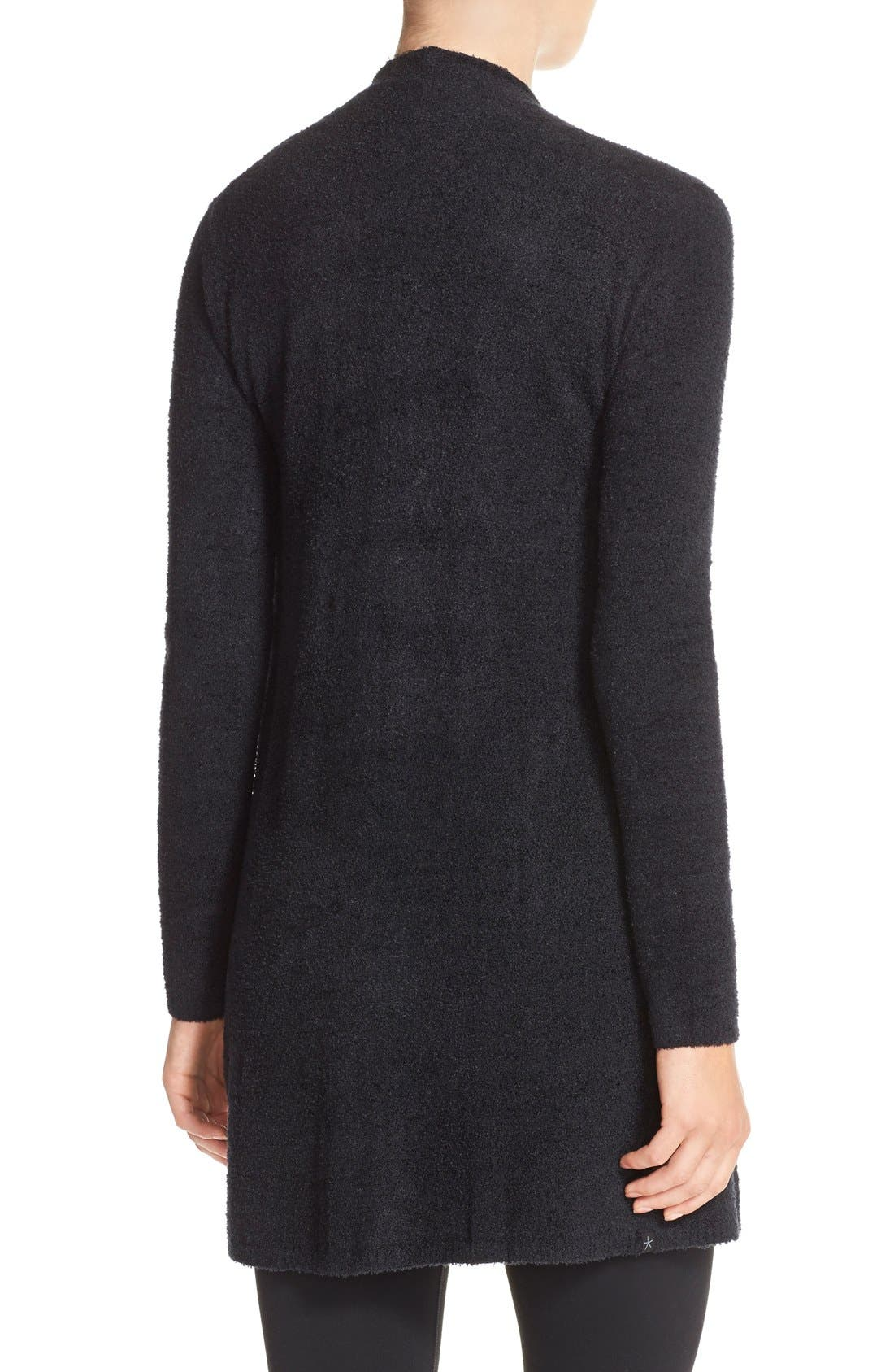 CozyChic Lite<sup>®</sup> Calypso Wrap Cardigan,                             Alternate thumbnail 9, color,                             BLACK