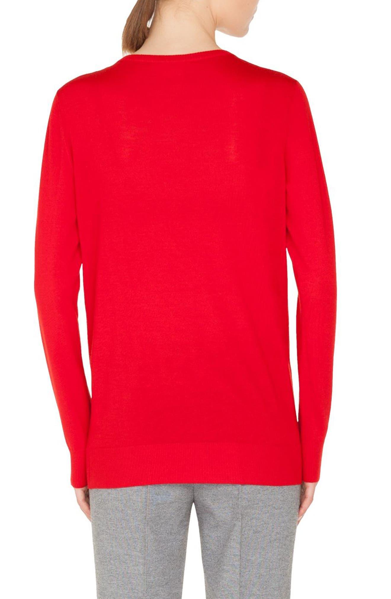 Trompe l'Oeil Wool Sweater,                             Alternate thumbnail 2, color,                             606