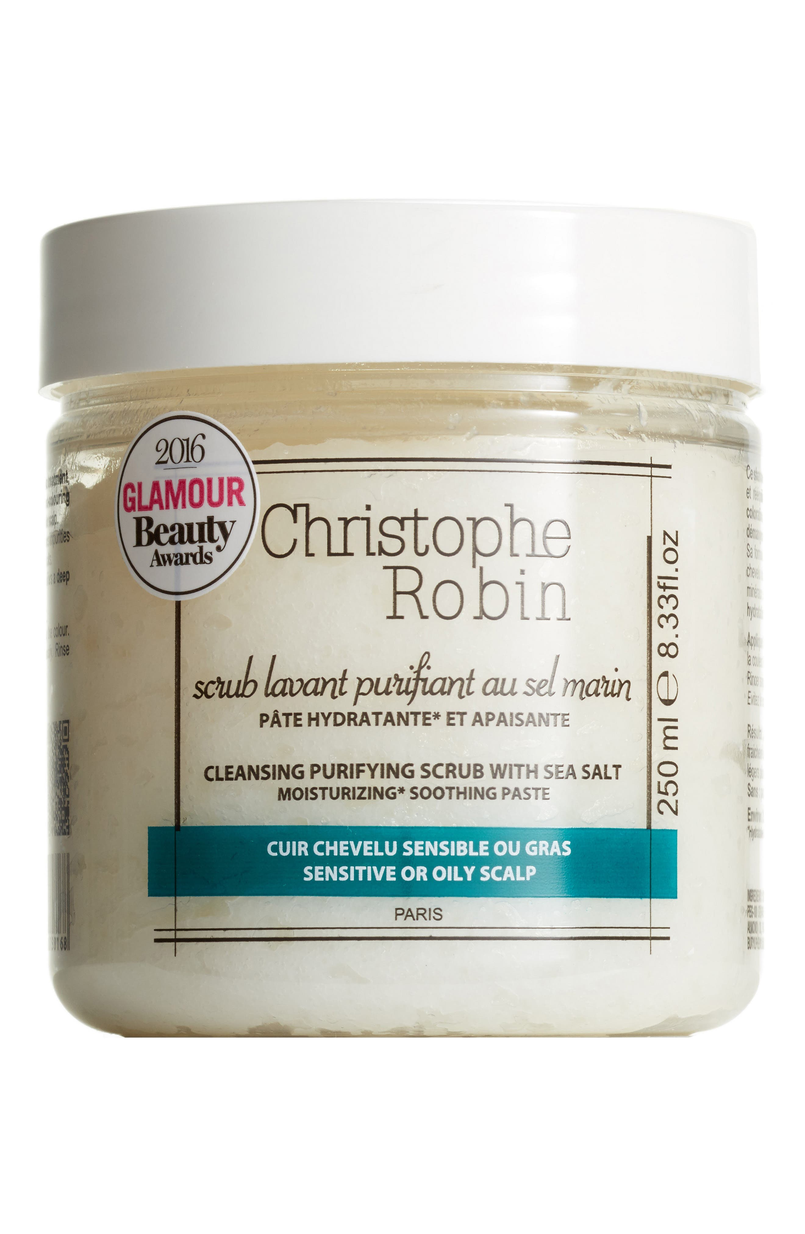 SPACE.NK.apothecary Christophe Robin Cleansing Purifying Scrub with Sea Salt,                         Main,                         color, NO COLOR
