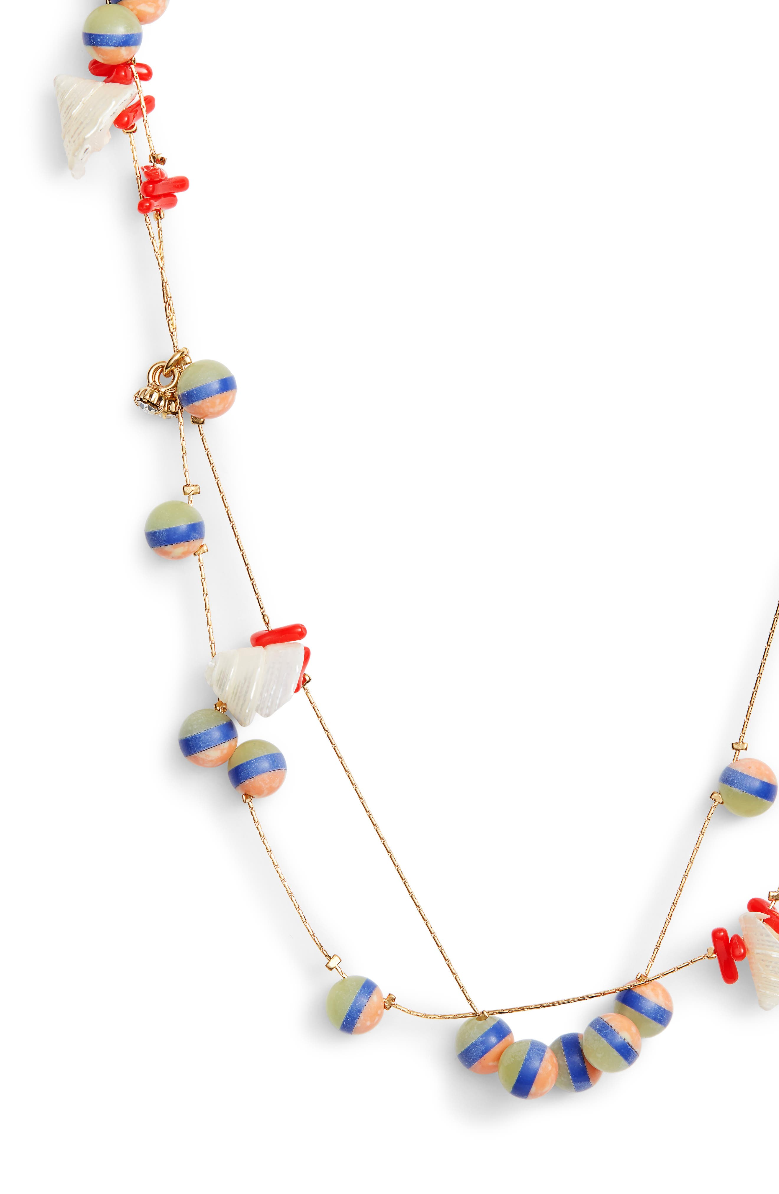 Bead & Shell Layered Necklace,                             Alternate thumbnail 2, color,                             ISLAND HUE