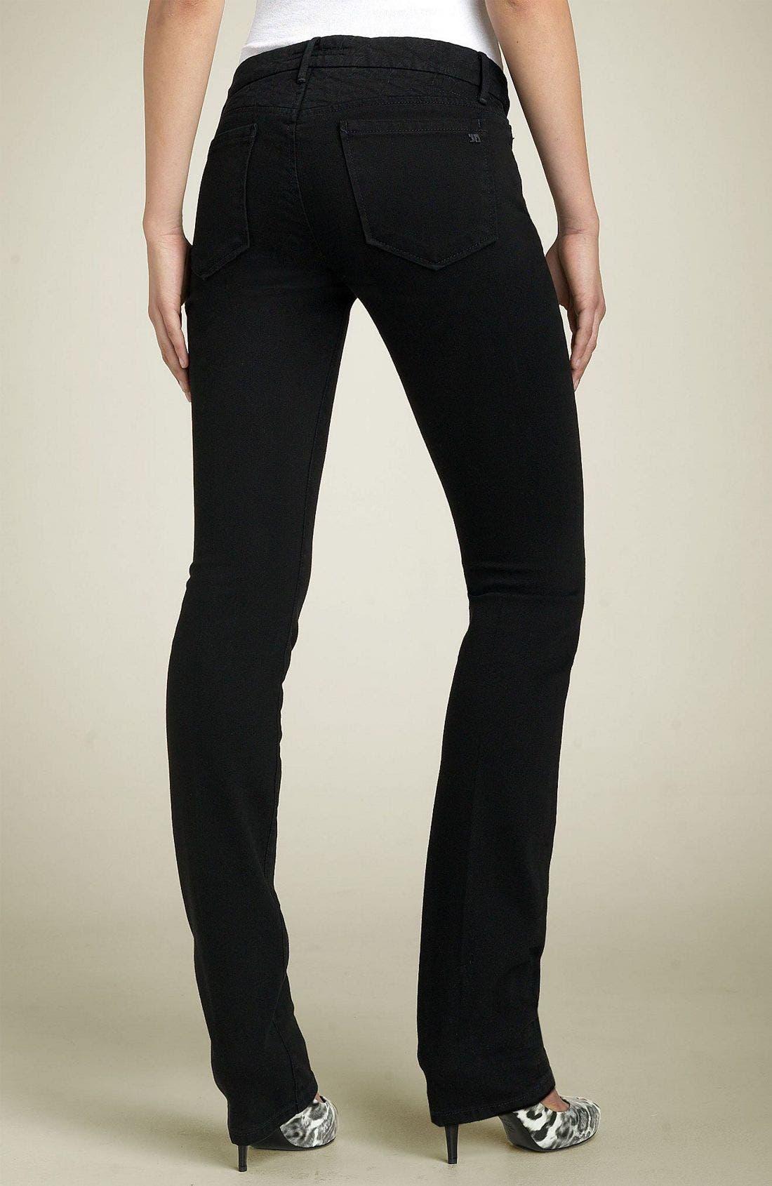 'The Cigarette' Straight Leg Stretch Jeans, Main, color, 001