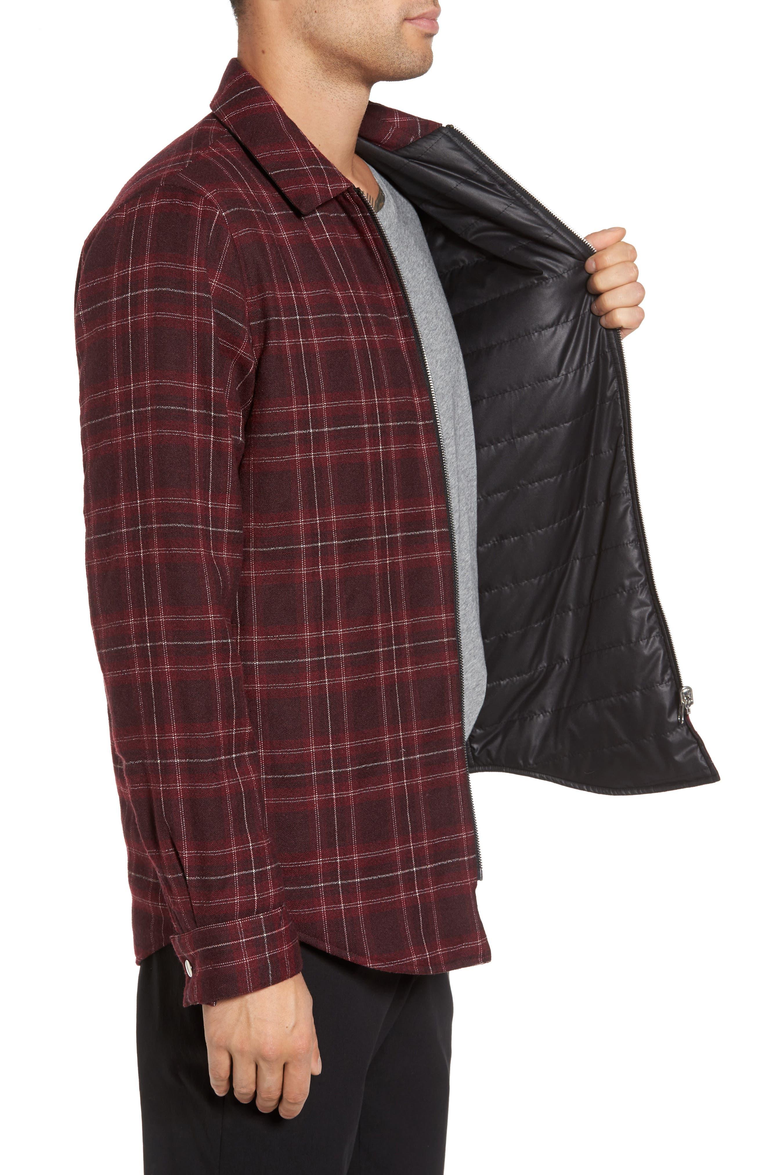 Reversible Zip Front Shirt Jacket,                             Alternate thumbnail 3, color,