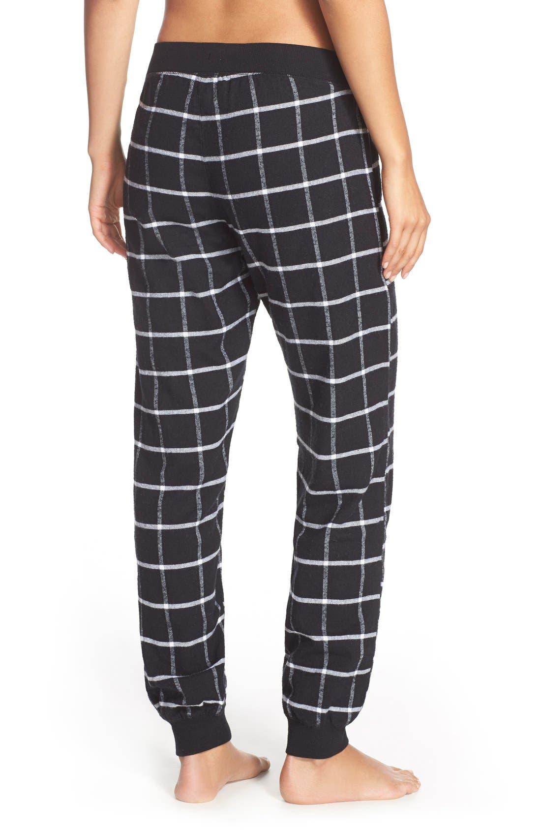 Flannel Pajama Pants,                             Alternate thumbnail 3, color,                             001
