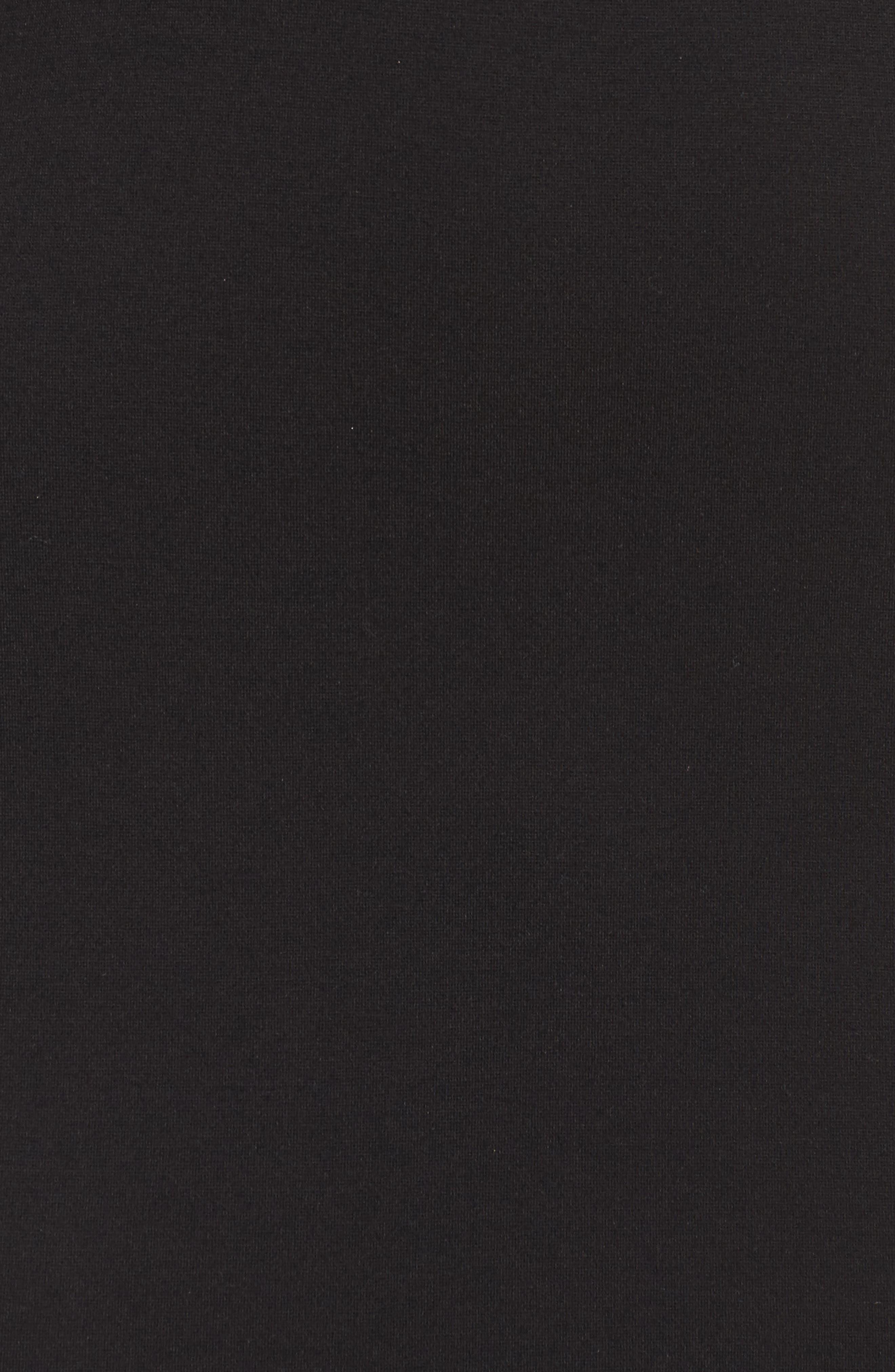 Ponte Body-Con Dress,                             Alternate thumbnail 5, color,                             001
