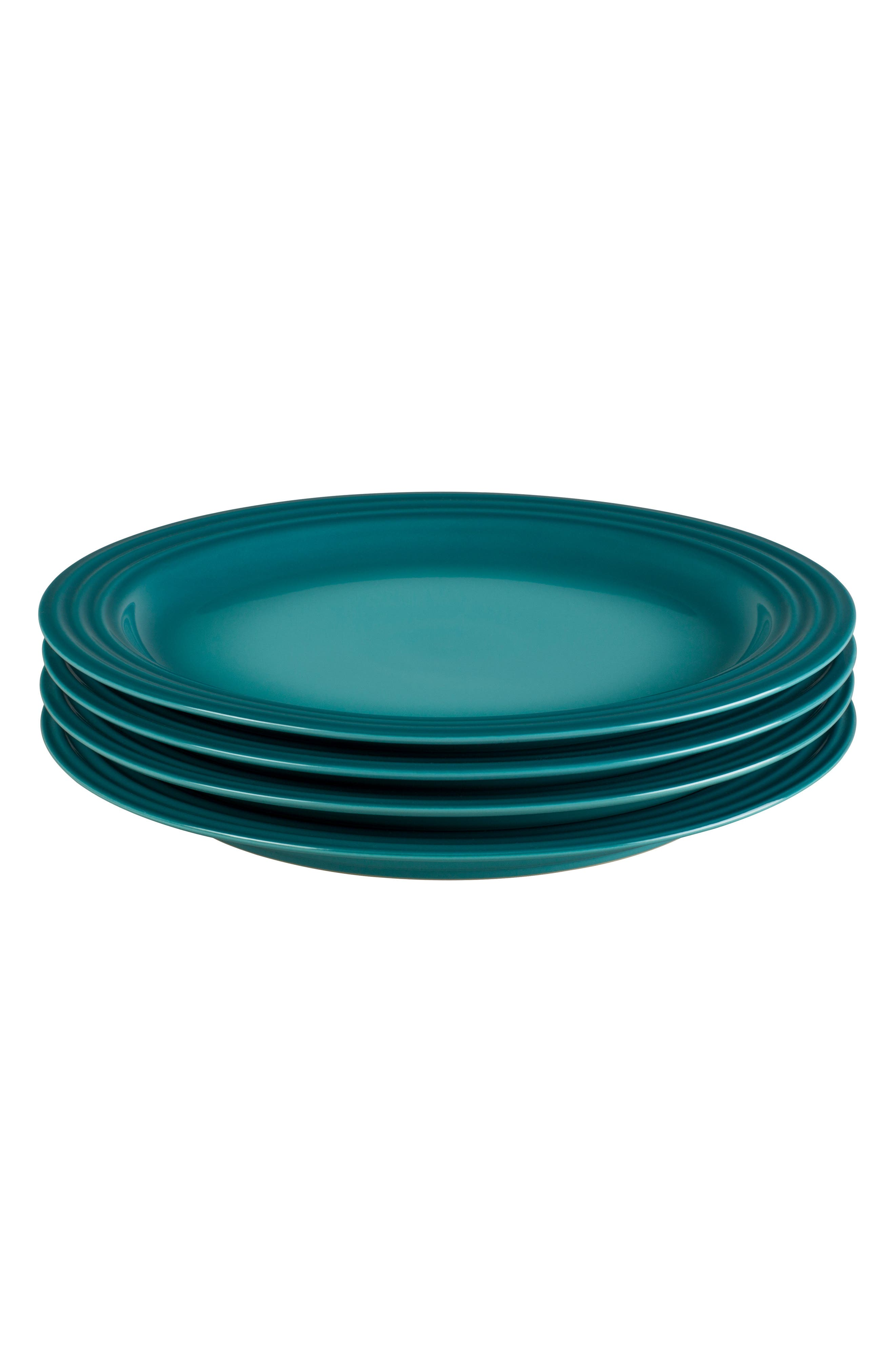 Le Creuset Set Of 4 10 12Inch Dinner Plates Size One Size  Bluegreen