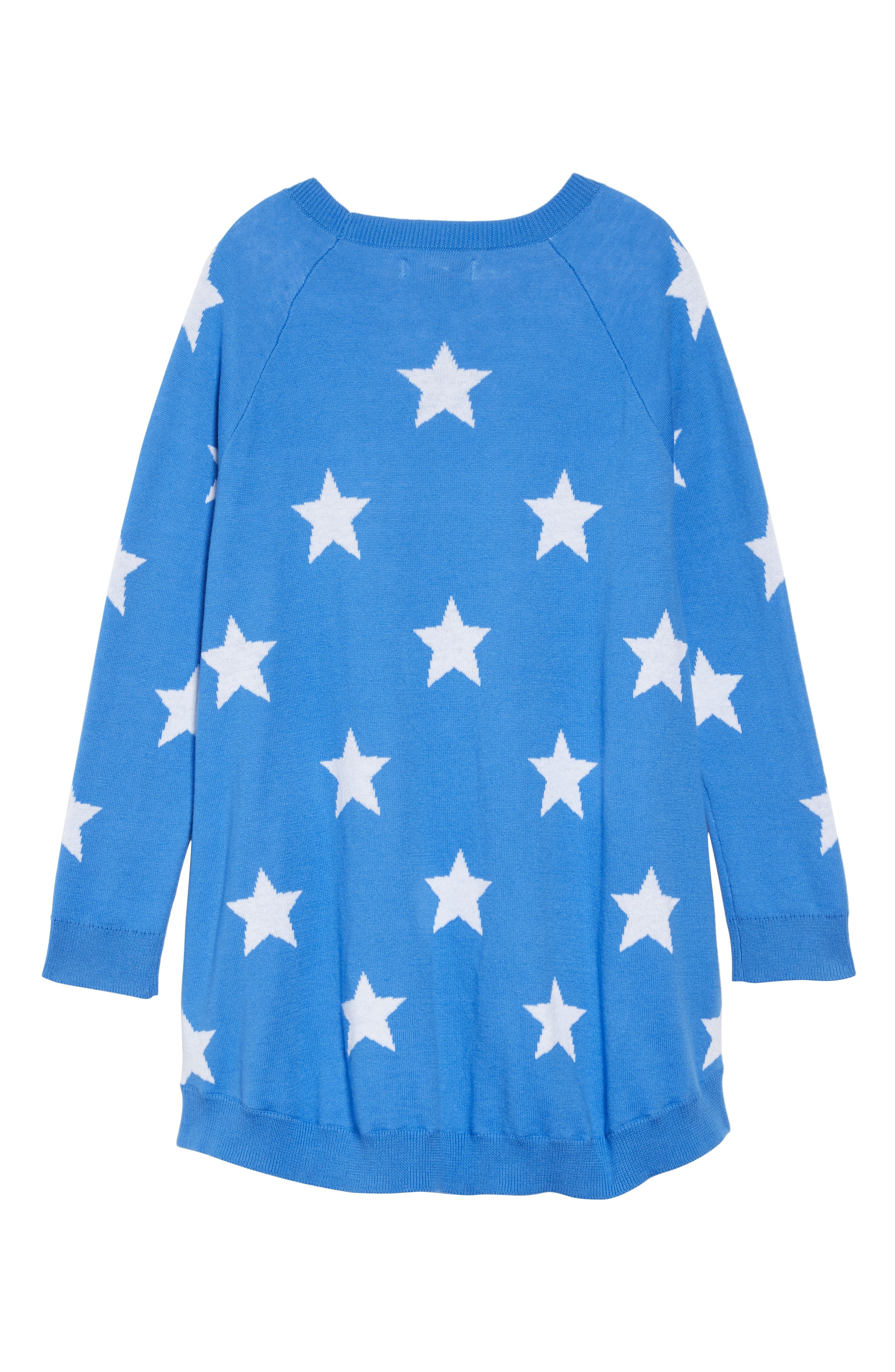 Swingy Sweater Dress,                             Alternate thumbnail 2, color,                             BLUE CAMP STARS