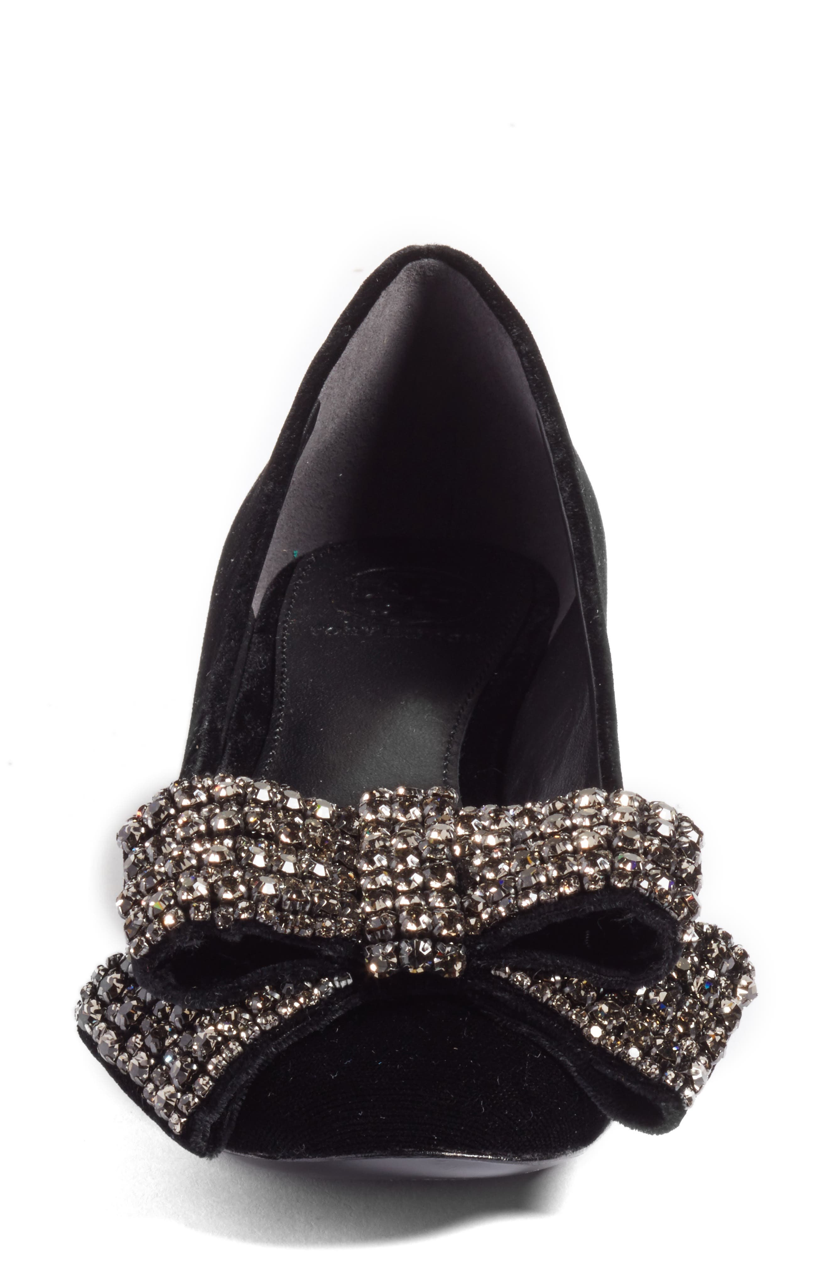 Josephine Embellished Bow Pump,                             Alternate thumbnail 4, color,                             009