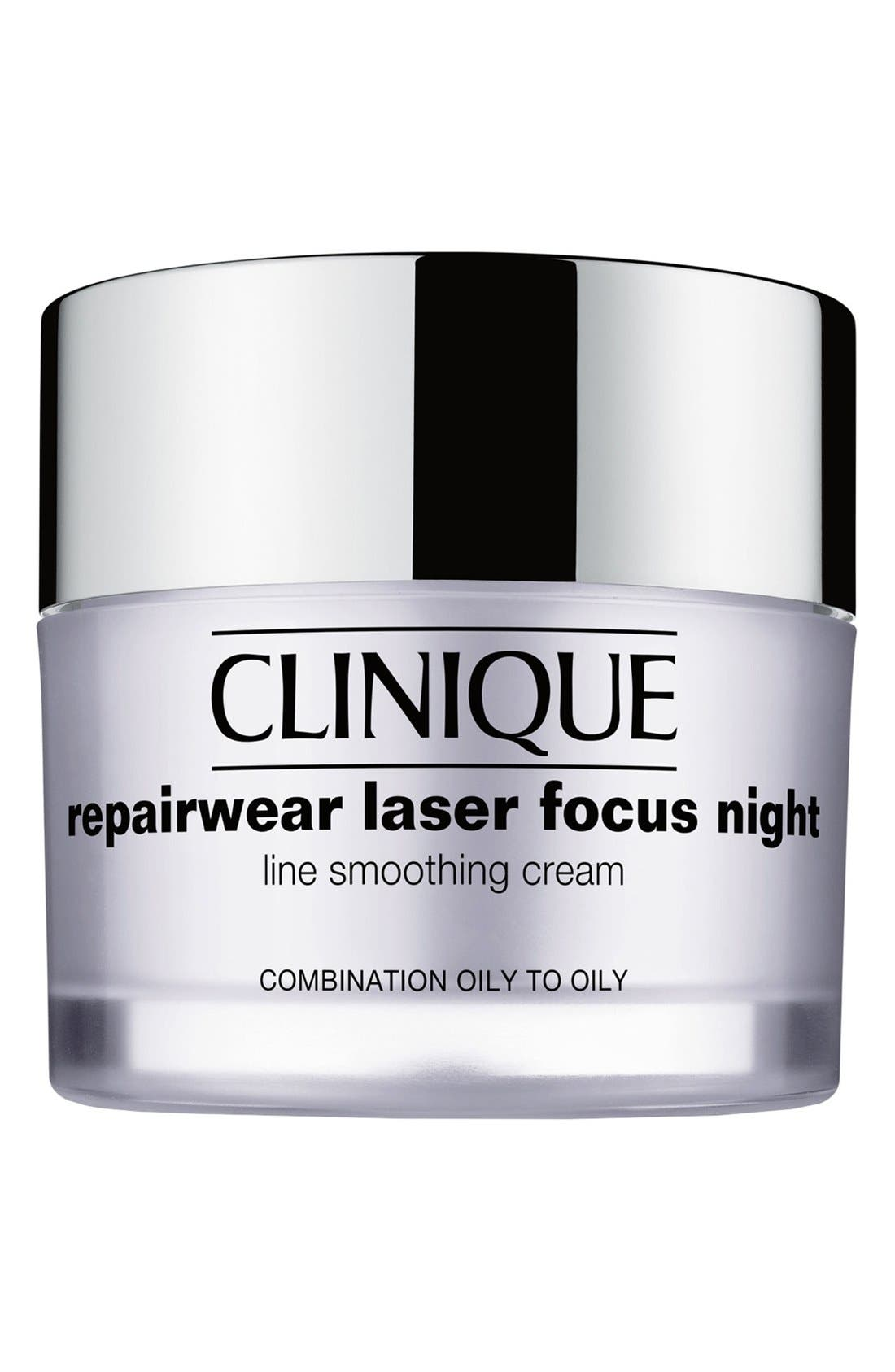 Repairwear Laser Focus Night Line Smoothing Cream for Combination Oily to Oily Skin,                             Main thumbnail 1, color,                             COMBINATION OILY TO OILY