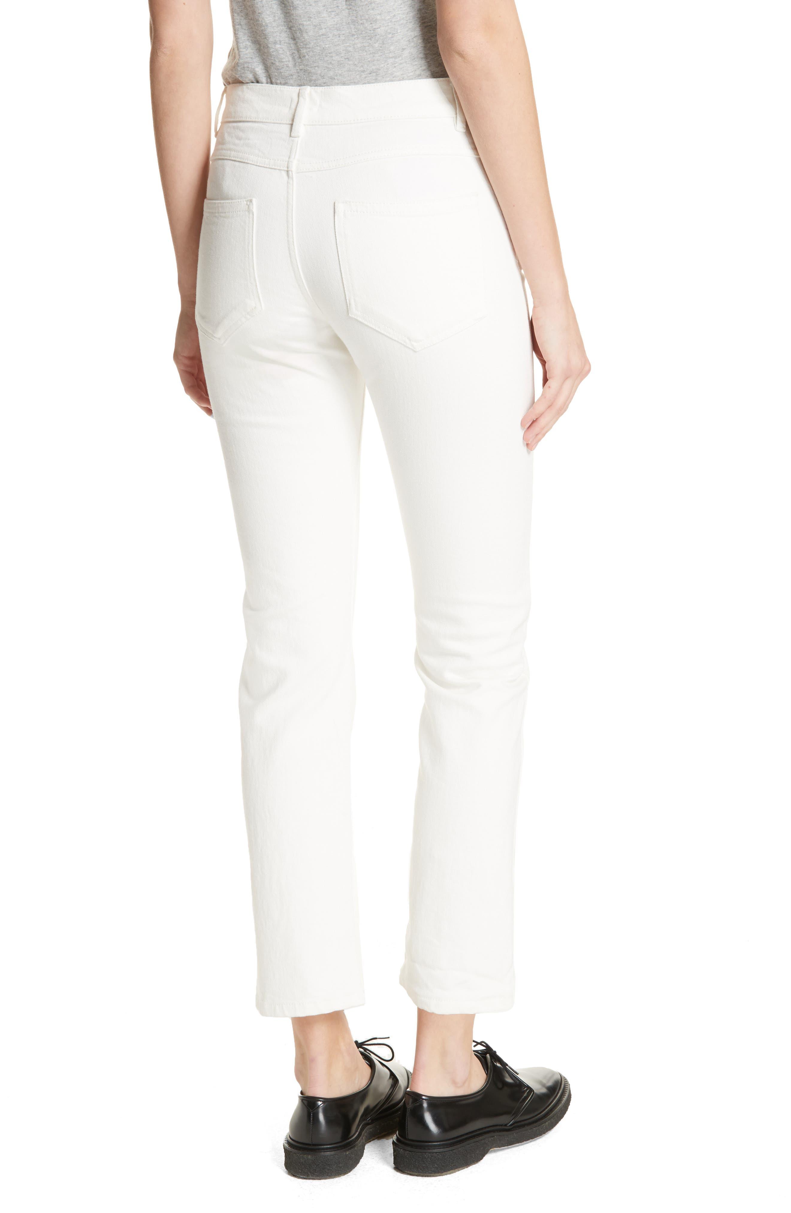 White Denim Jeans,                             Alternate thumbnail 2, color,                             100