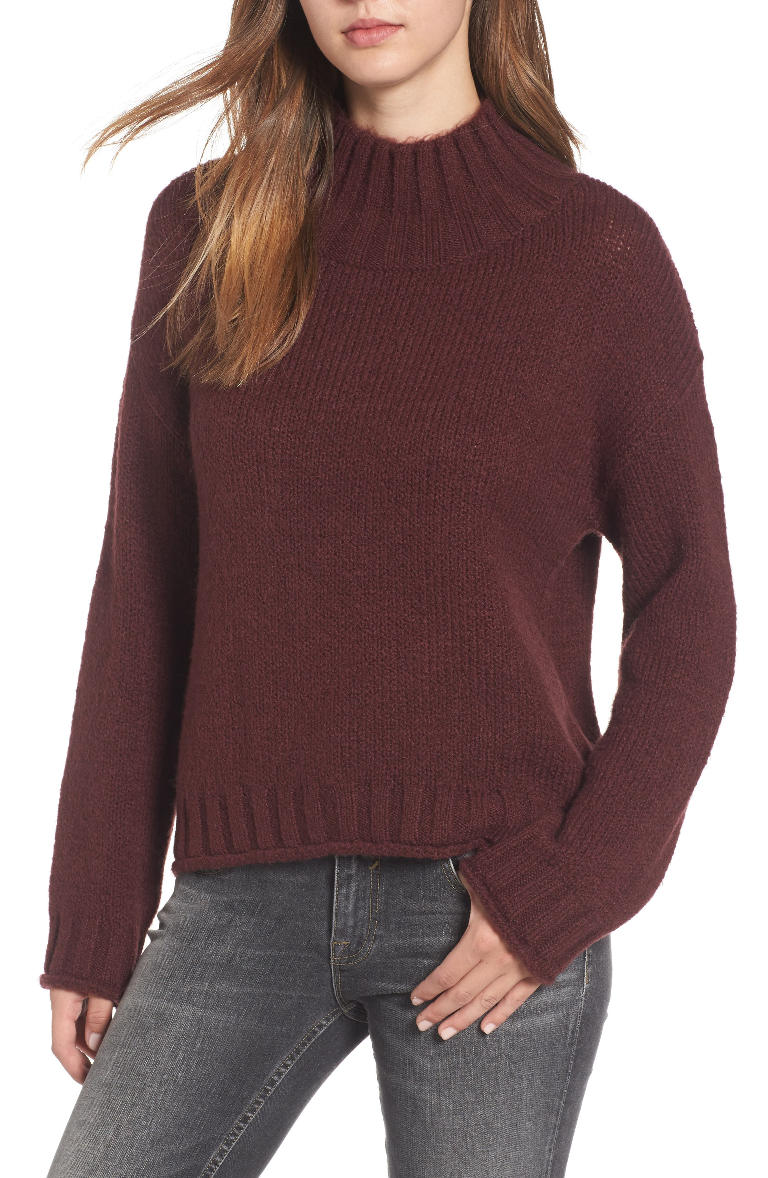 Cozy Mock Neck Sweater,                             Main thumbnail 7, color,