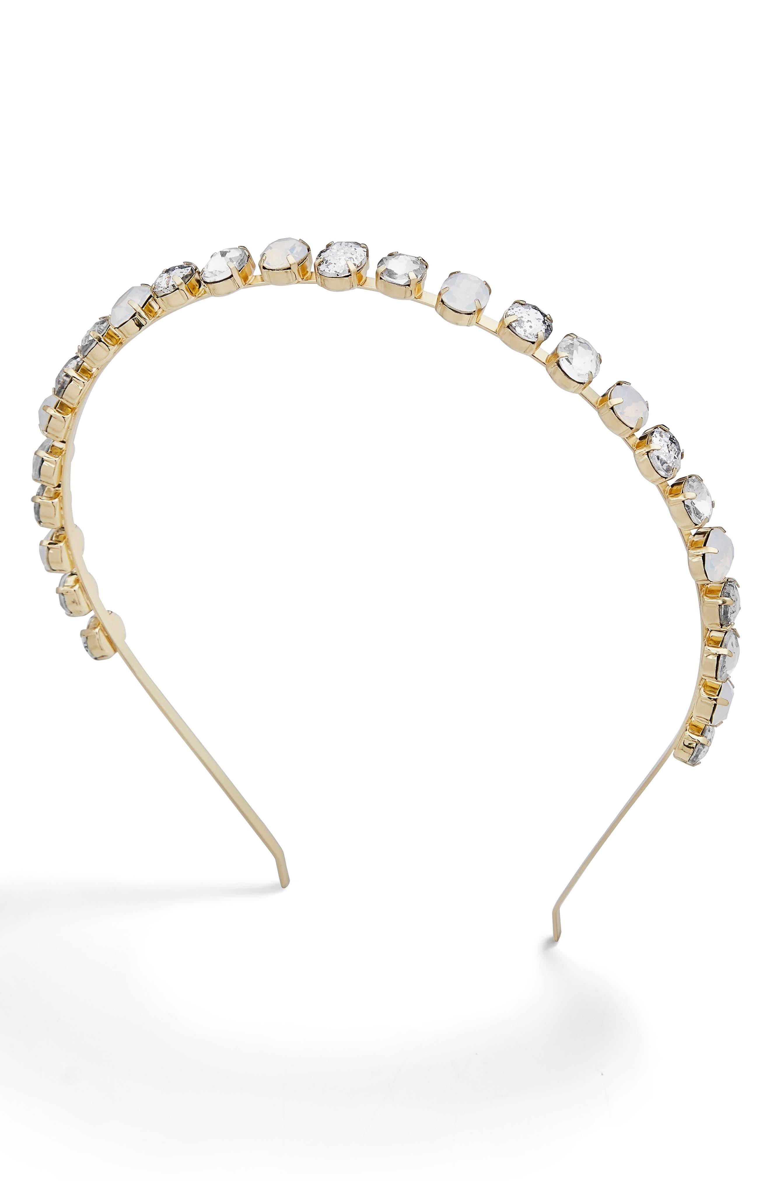 x Micaela Erlanger Royal Treatment Embellished Headband,                         Main,                         color, PASTEL MULTI/ GOLD