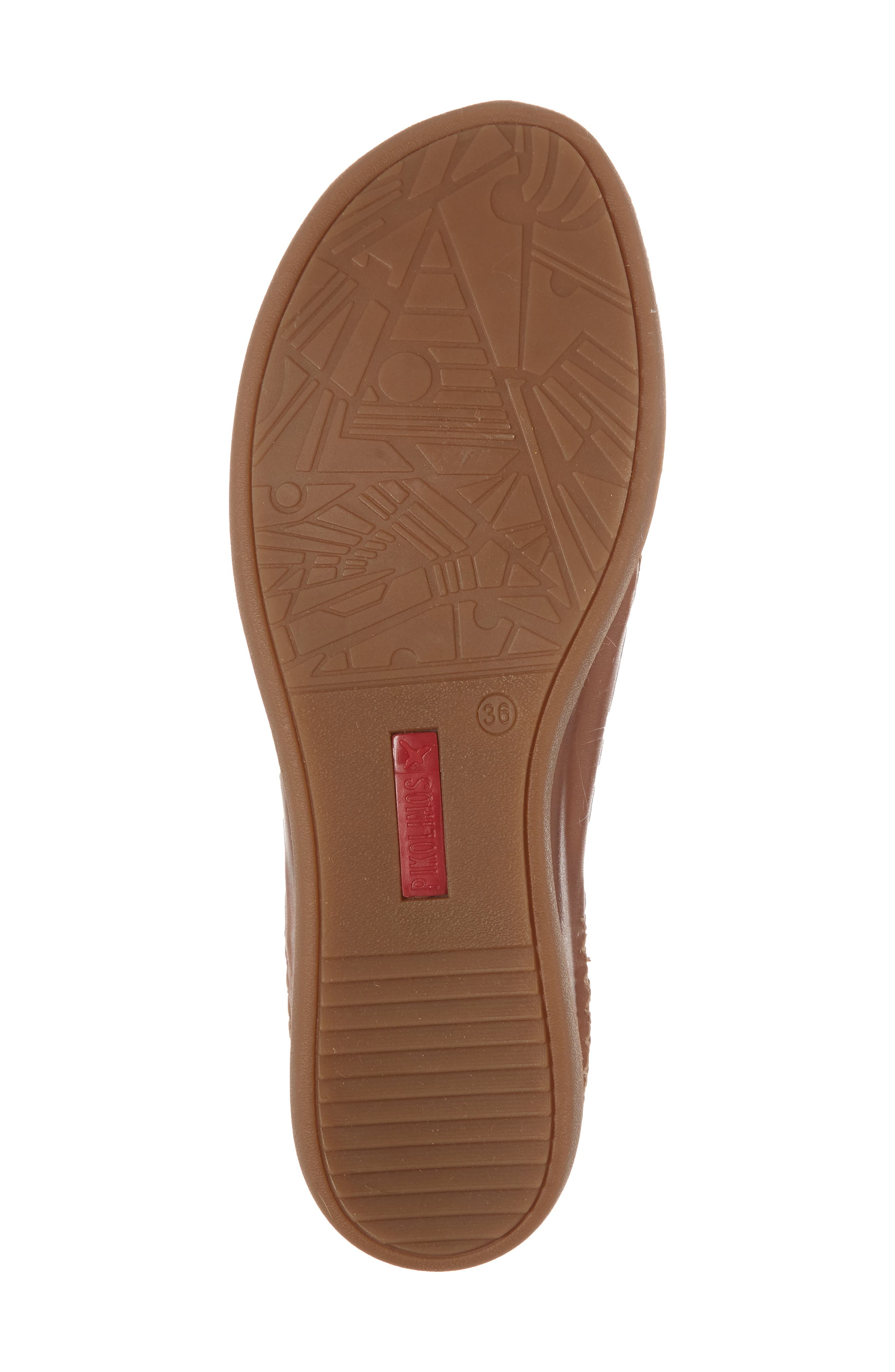Cadaques Flat,                             Alternate thumbnail 6, color,                             BRANDY LEATHER