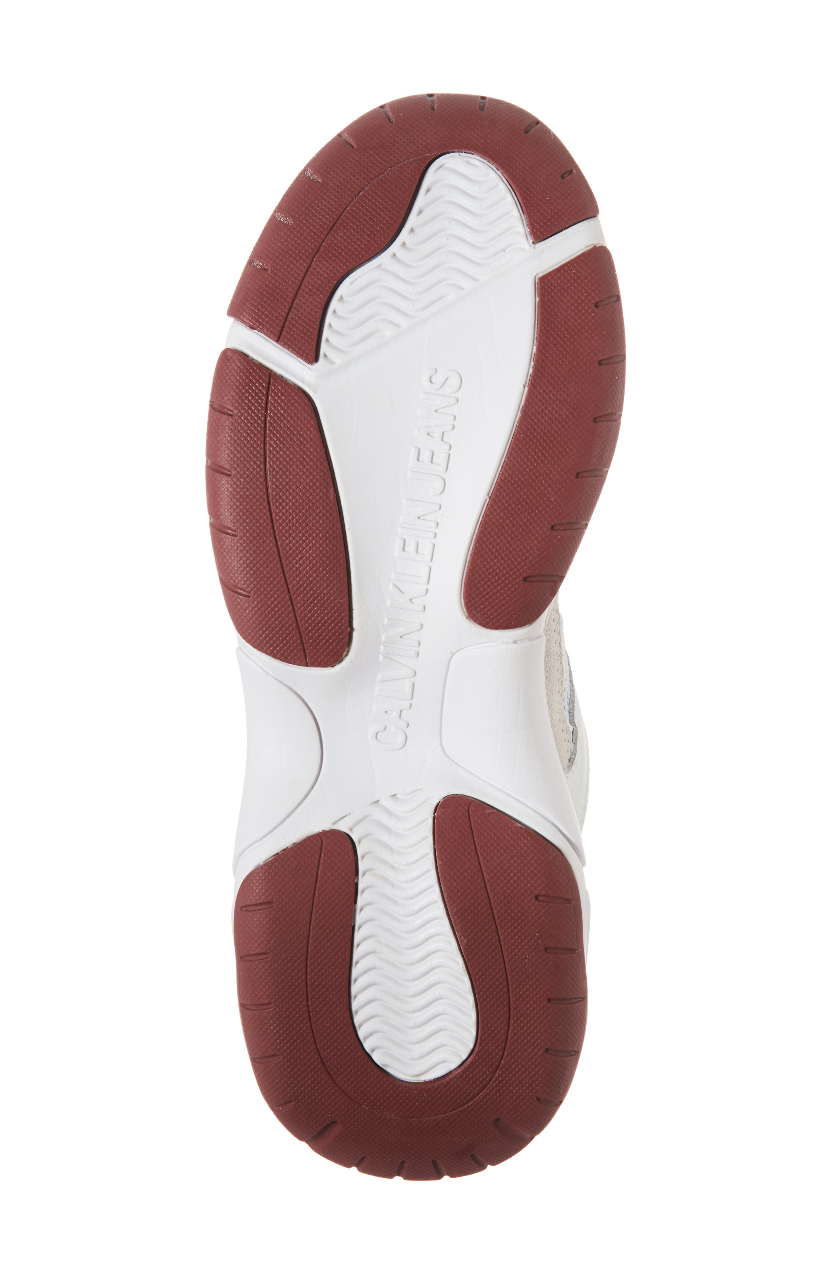 Maya Sneaker,                             Alternate thumbnail 6, color,                             WHITE FABRIC