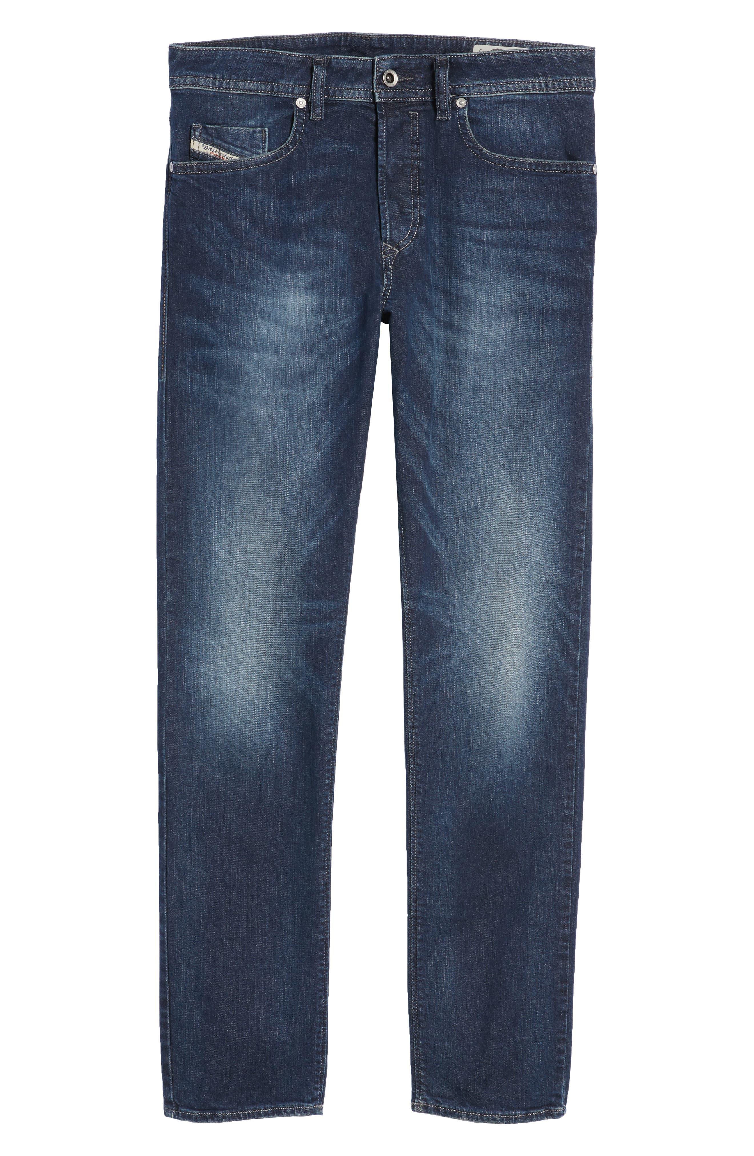 Buster Slim Straight Leg Jeans,                             Alternate thumbnail 6, color,                             BLUE