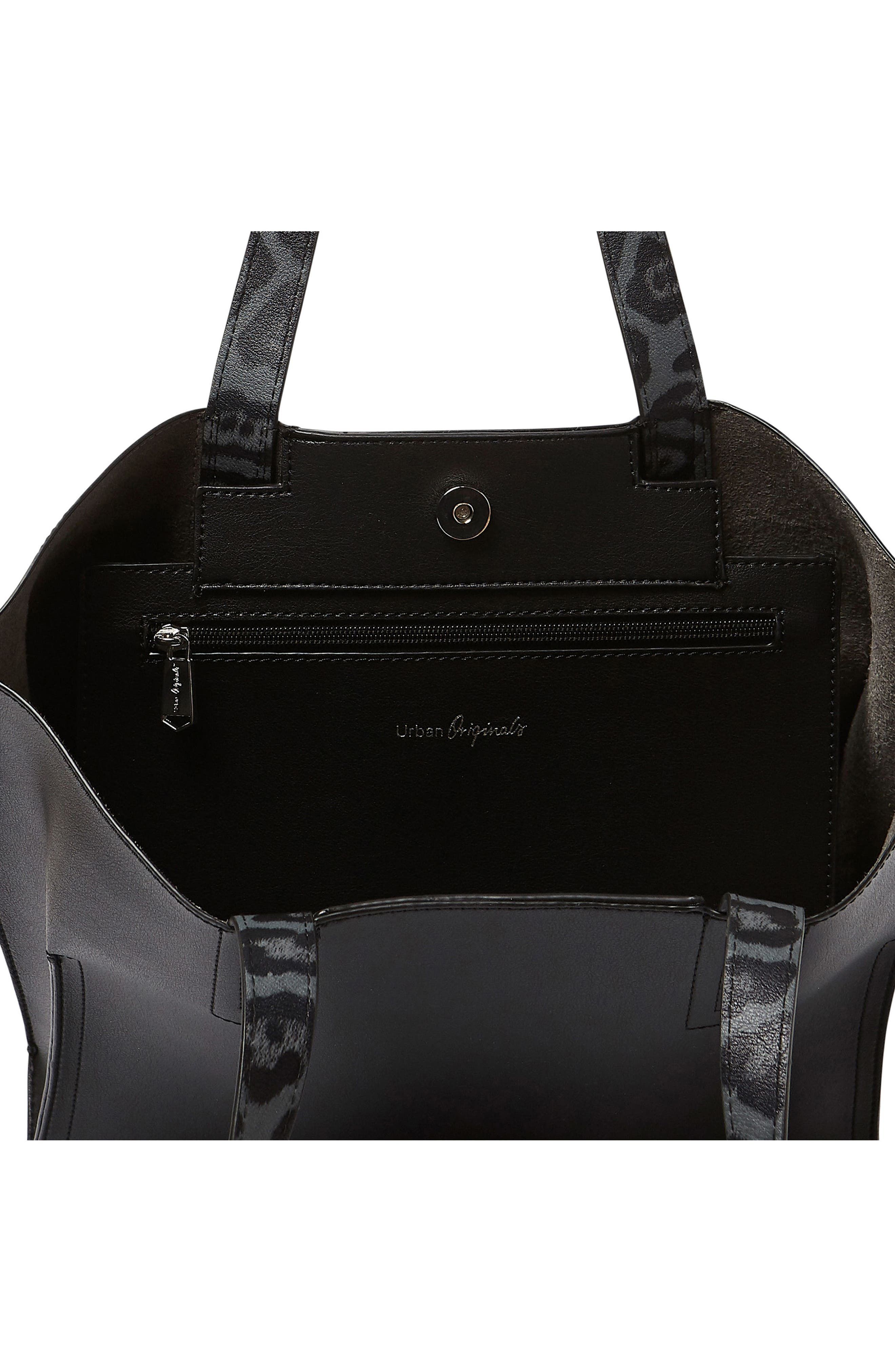 Obsession Vegan Leather Tote,                             Alternate thumbnail 3, color,                             001