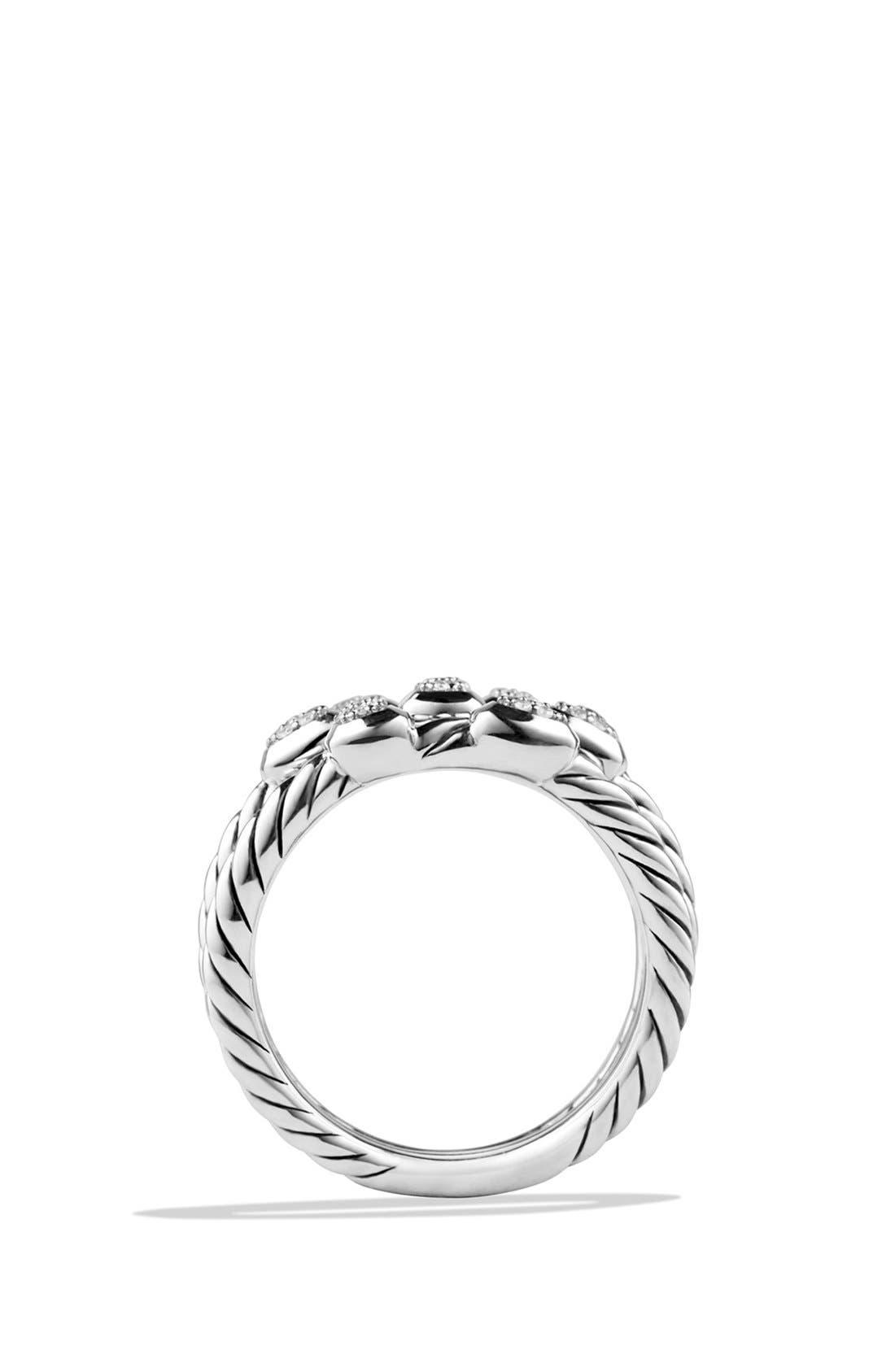 'Confetti' Ring with Diamonds,                             Alternate thumbnail 3, color,                             DIAMOND