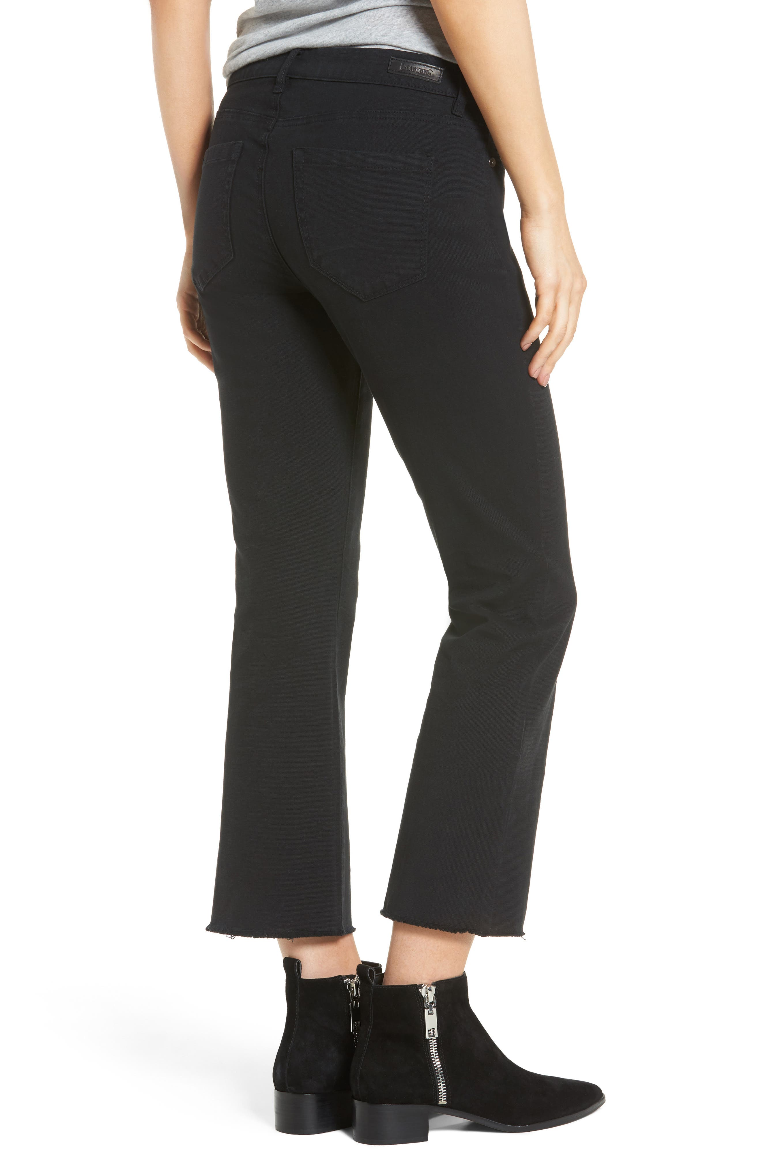 Canvas Cropped Kick Flare Jeans,                             Alternate thumbnail 2, color,                             001