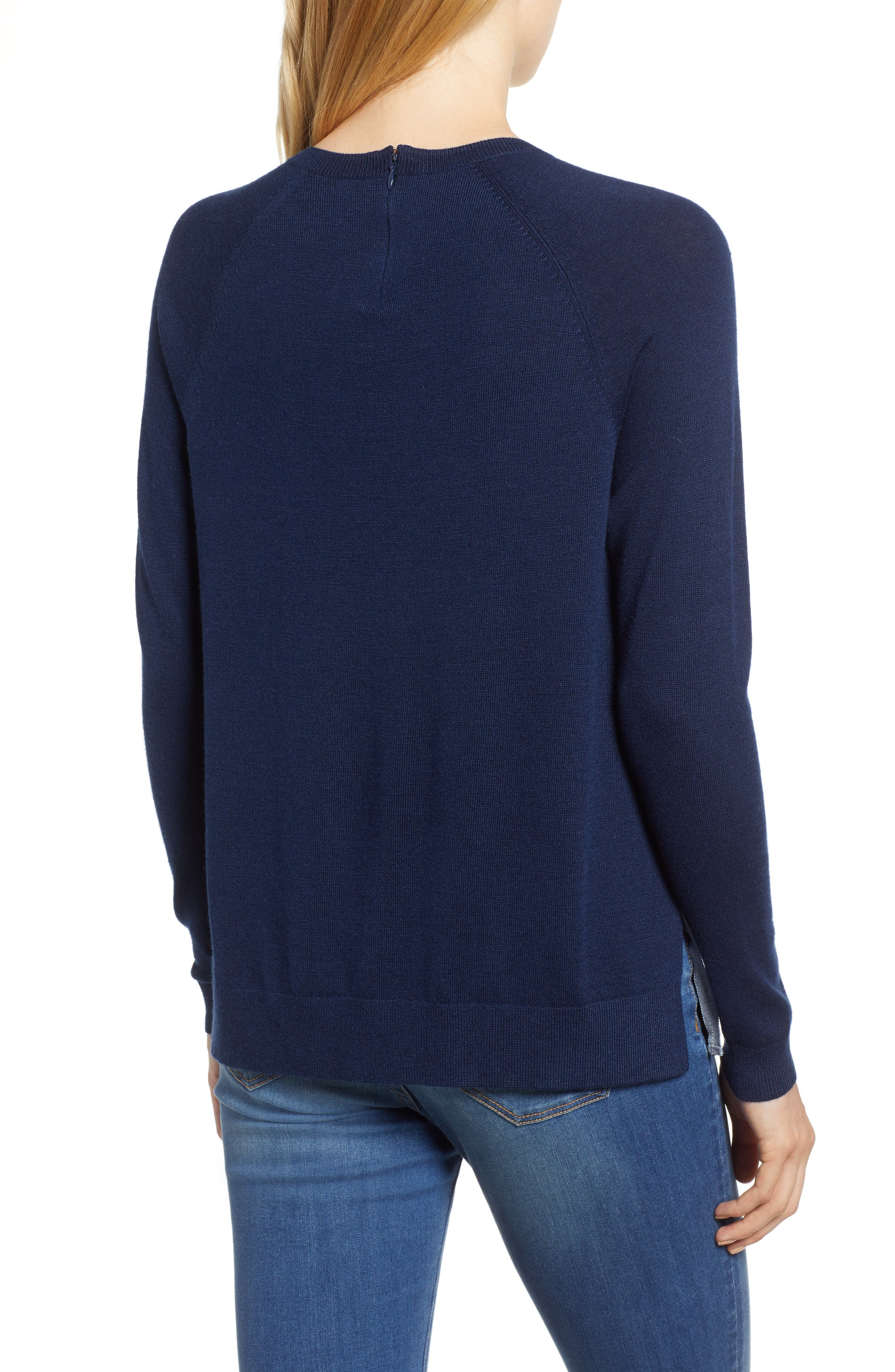 Back Zip Crewneck Sweater,                             Alternate thumbnail 2, color,                             476