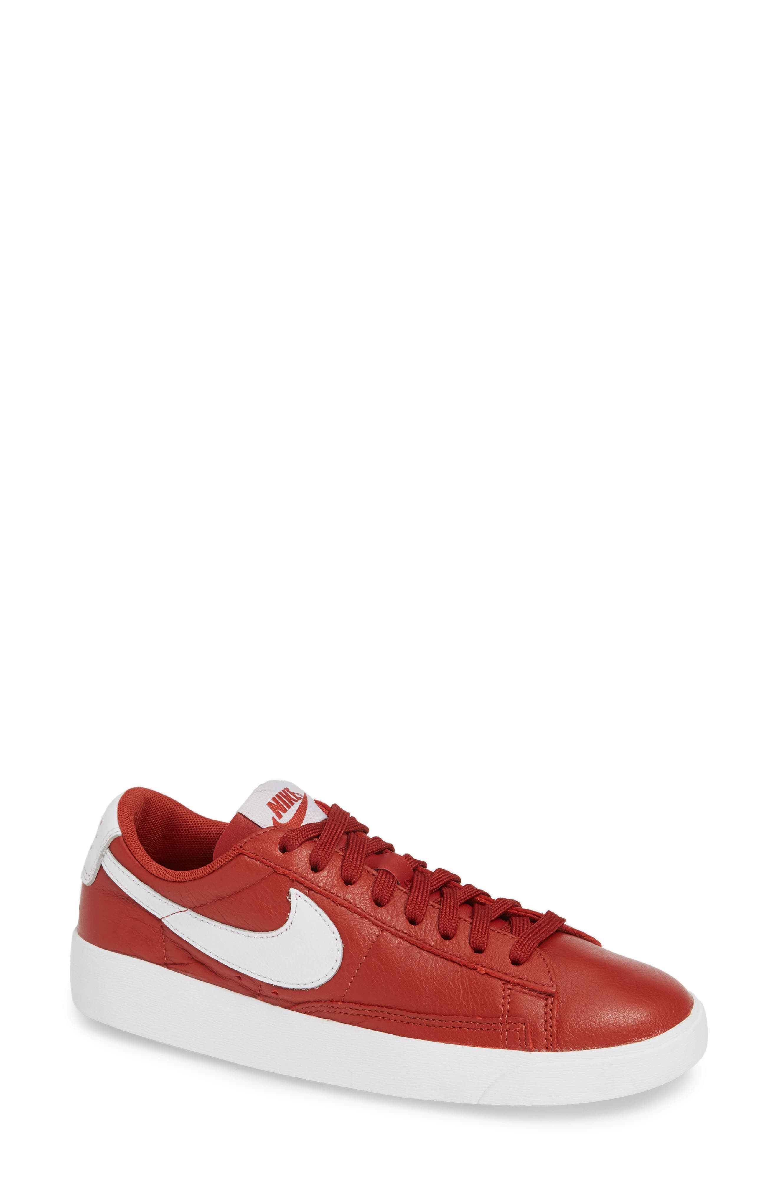 Blazer Low SE Sneaker,                         Main,                         color, DUNE RED/ WHITE-DUNE RED