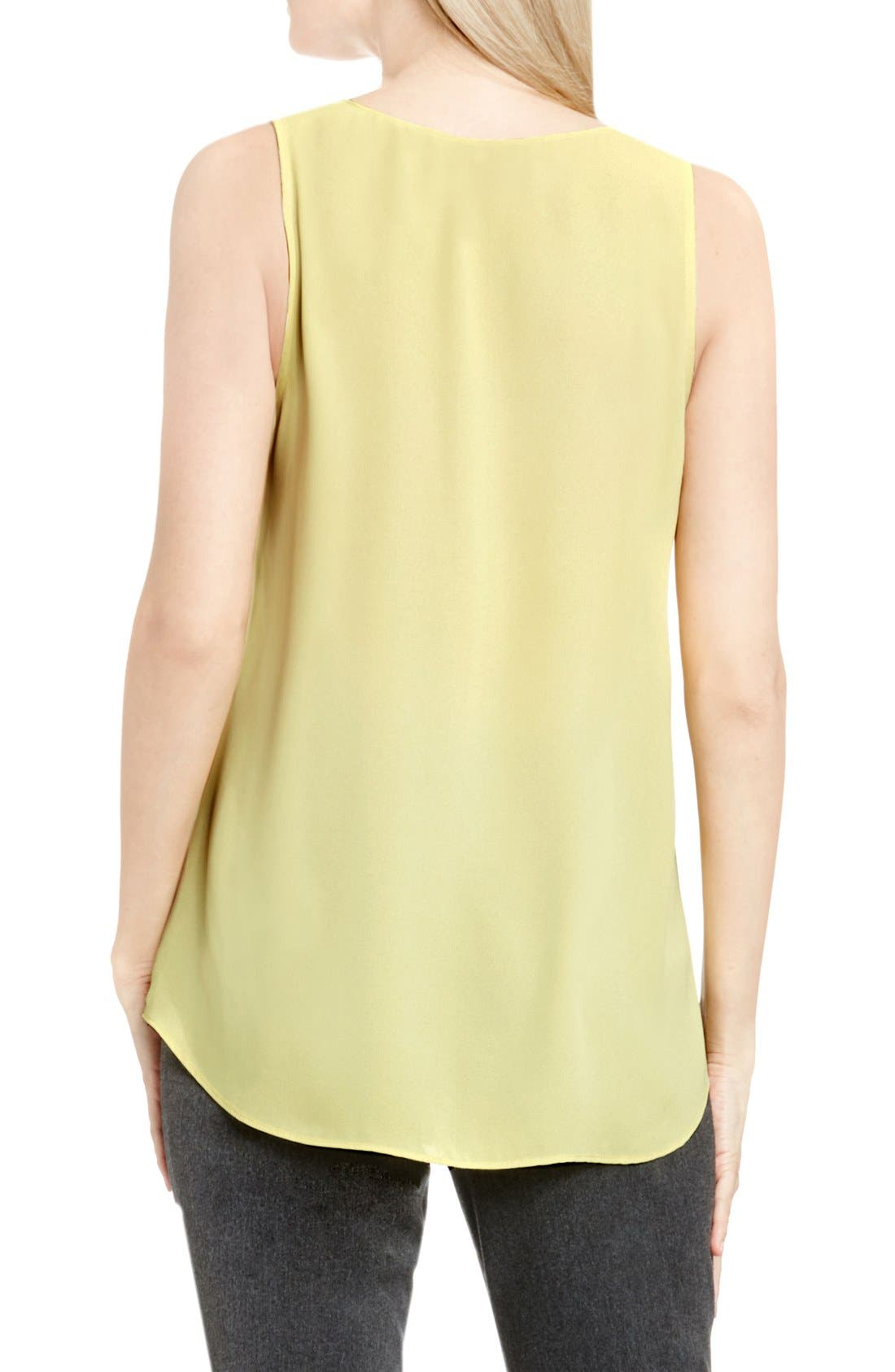 Drape Front V-Neck Sleeveless Blouse,                             Alternate thumbnail 72, color,
