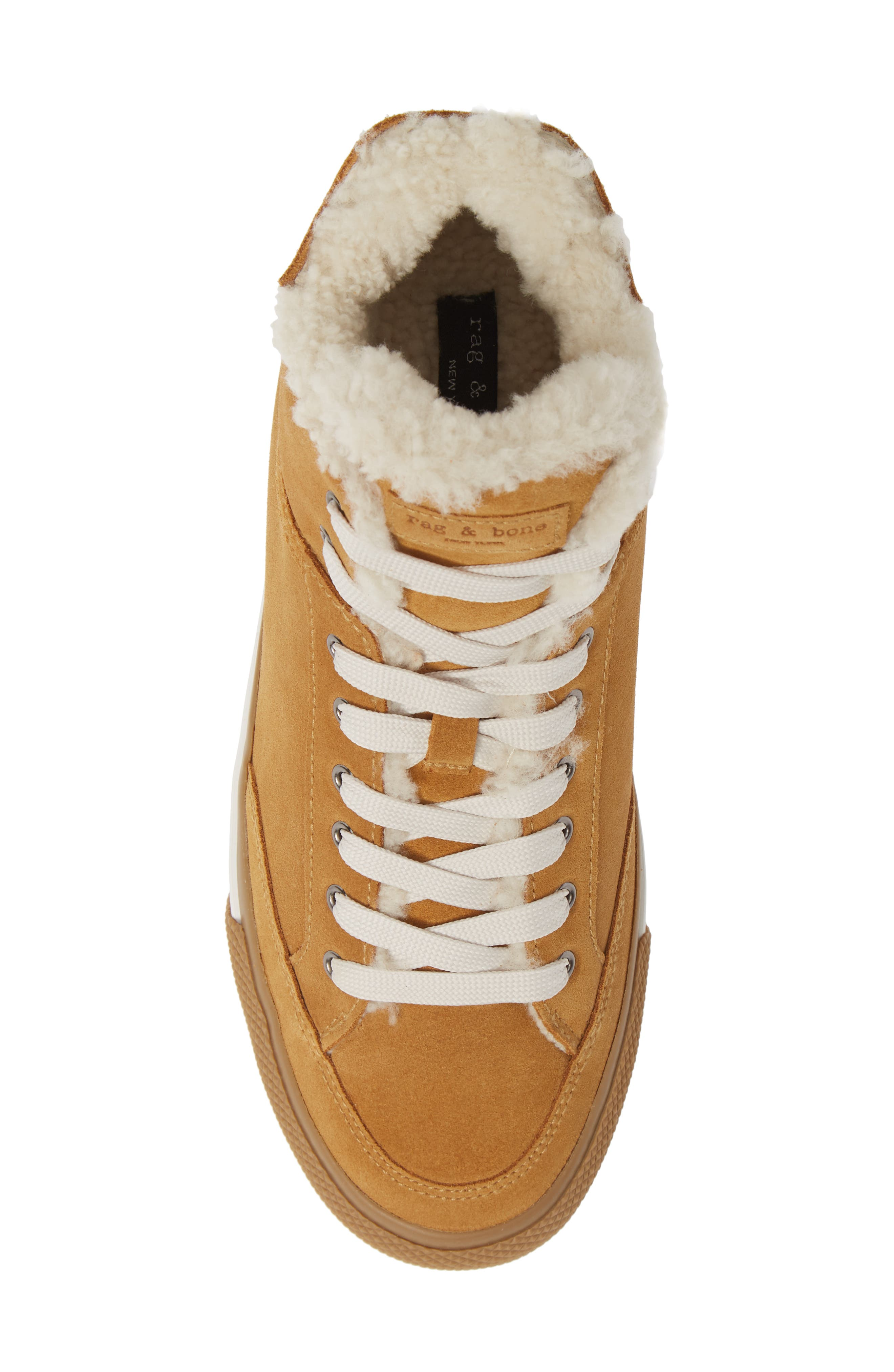 Army High Top Sneaker,                             Alternate thumbnail 5, color,                             OAK SUEDE