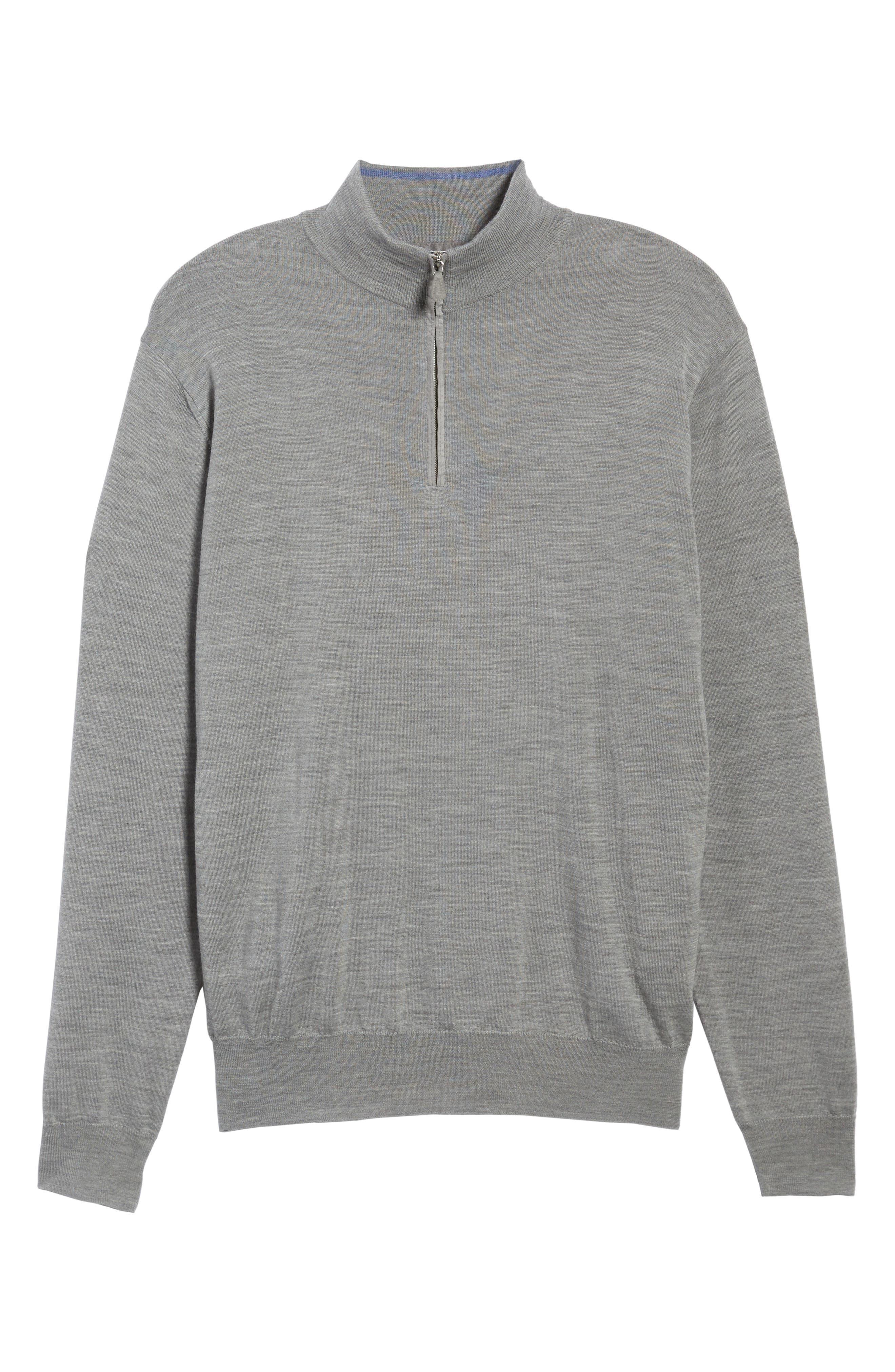Wool Blend Quarter Zip Sweater,                             Alternate thumbnail 11, color,