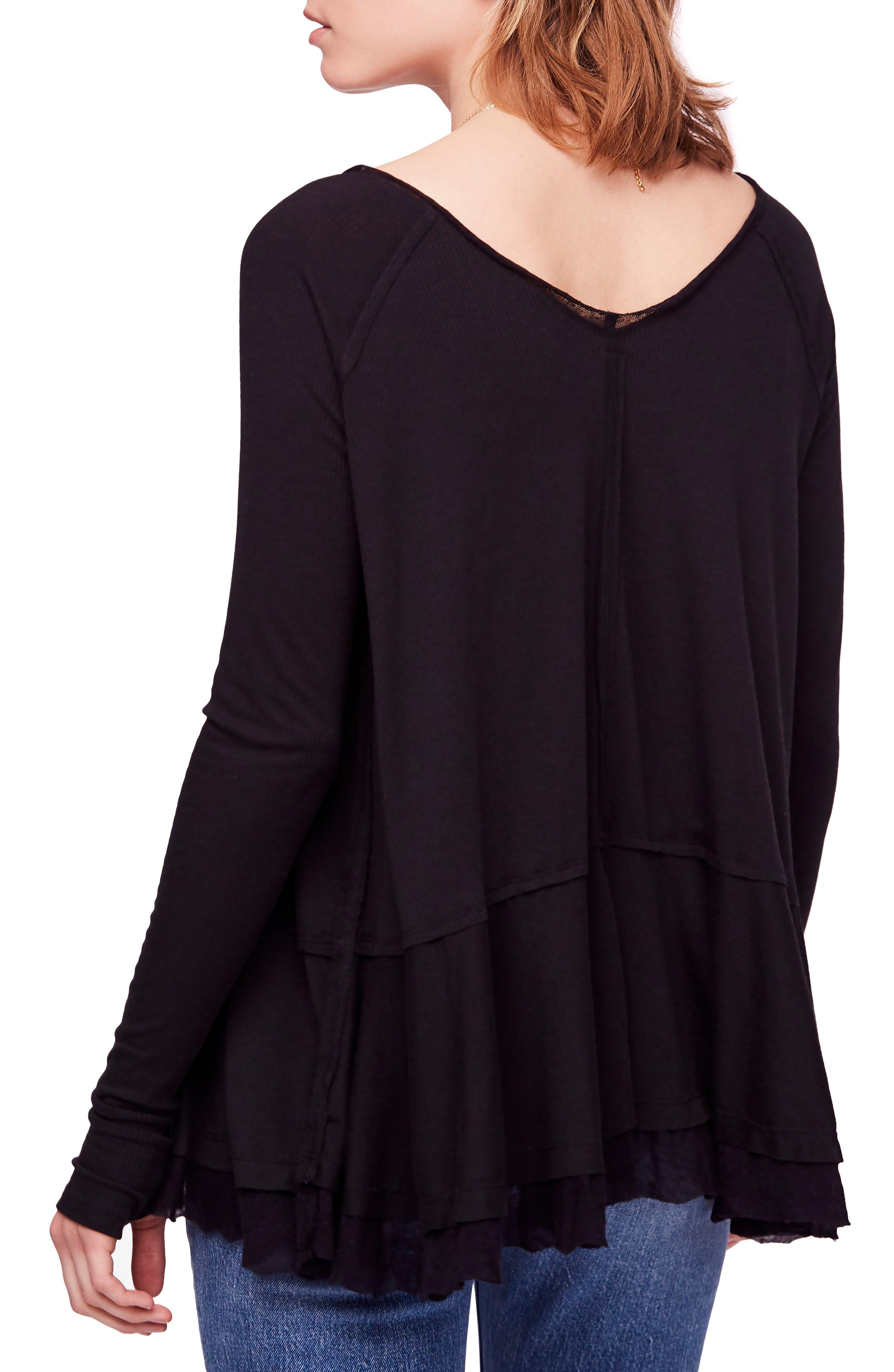 We the Free by Free People Tangerine Tee,                             Alternate thumbnail 2, color,                             BLACK