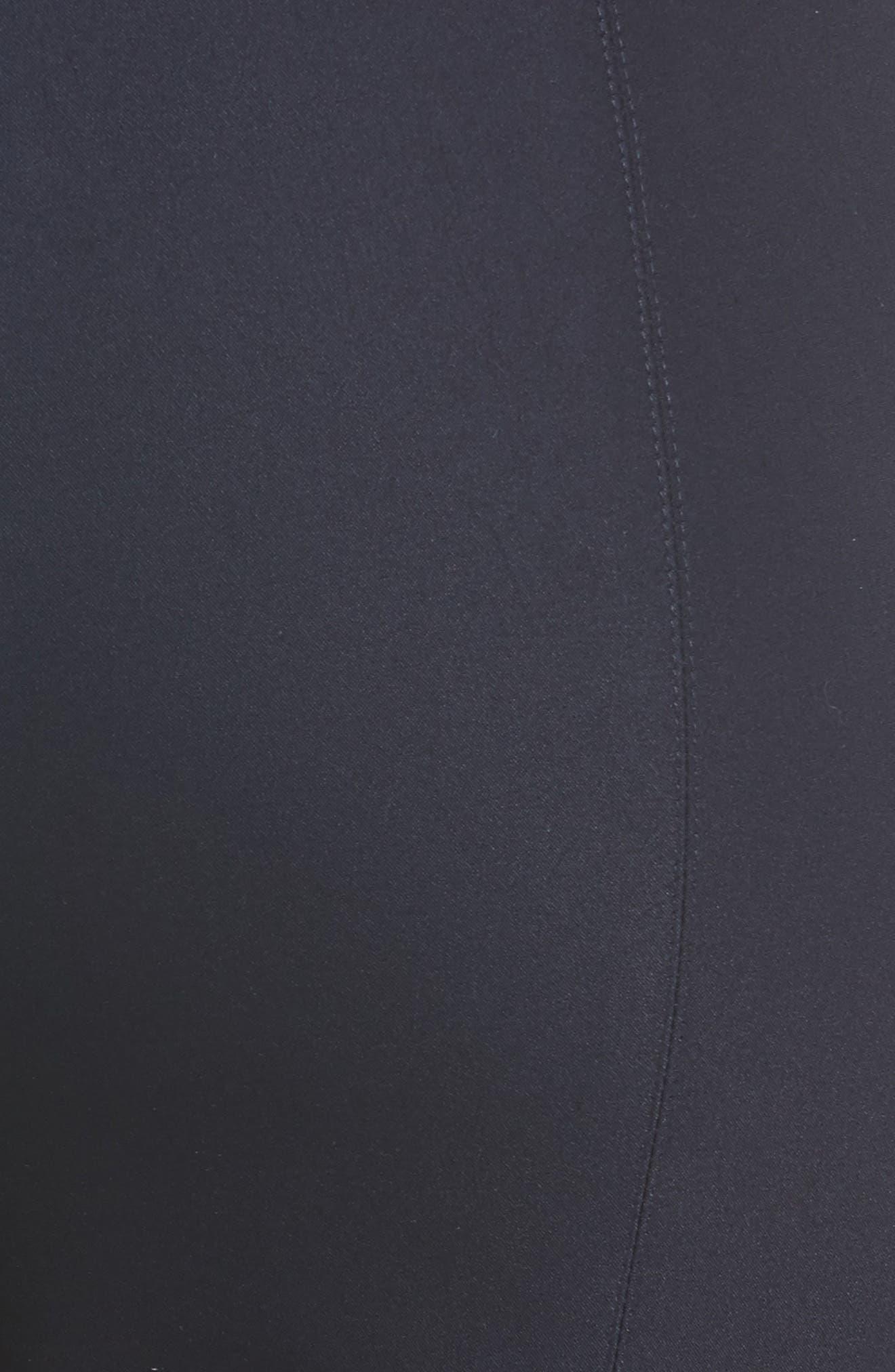 Alexa Scuba Slim Crop Pants,                             Alternate thumbnail 6, color,                             NAVY