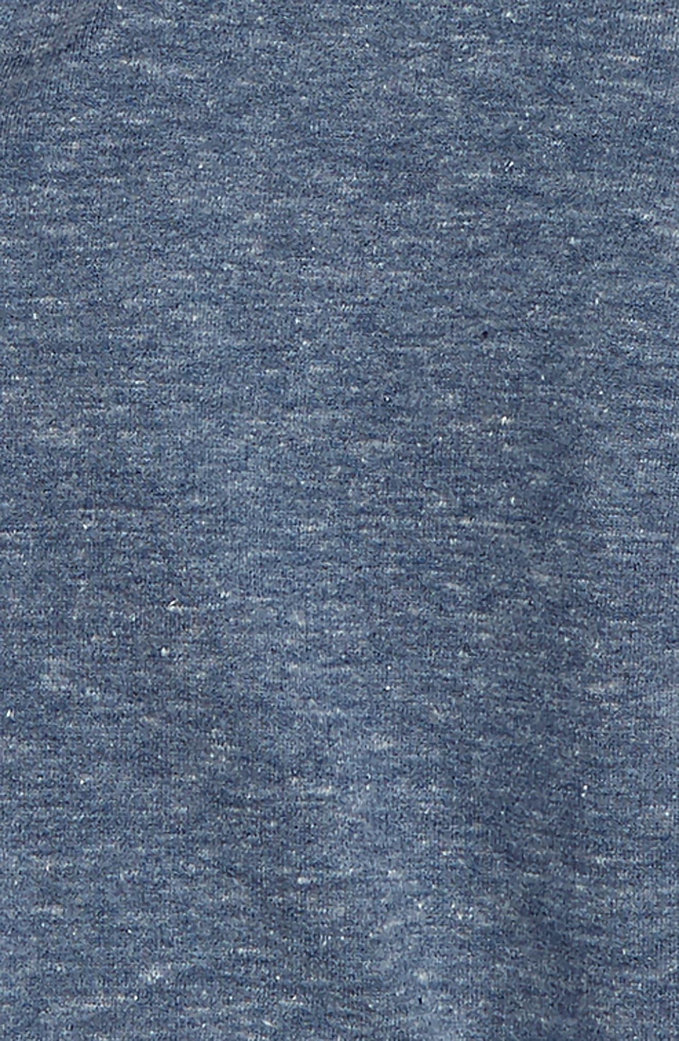 Colorblock Zip Crew Sweatshirt,                             Alternate thumbnail 2, color,                             NAVY DENIM