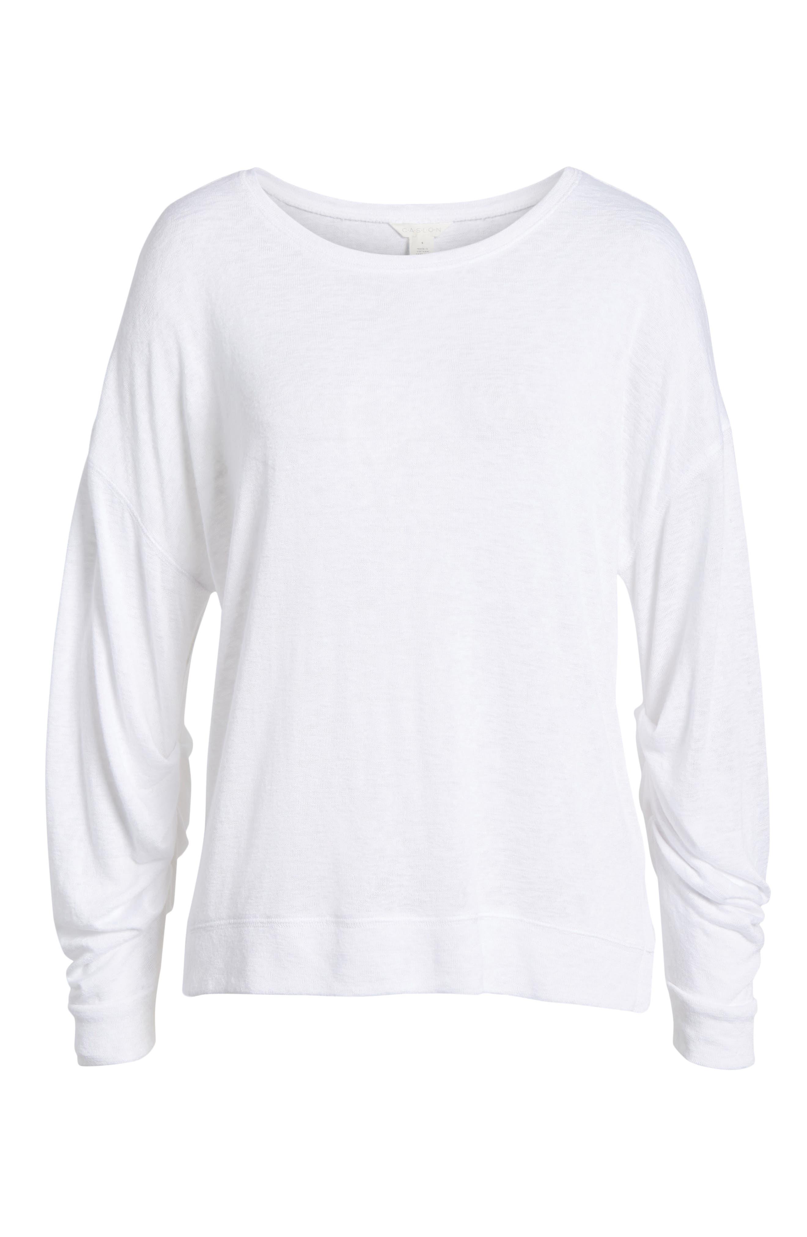 Tuck Sleeve Sweatshirt,                             Alternate thumbnail 34, color,