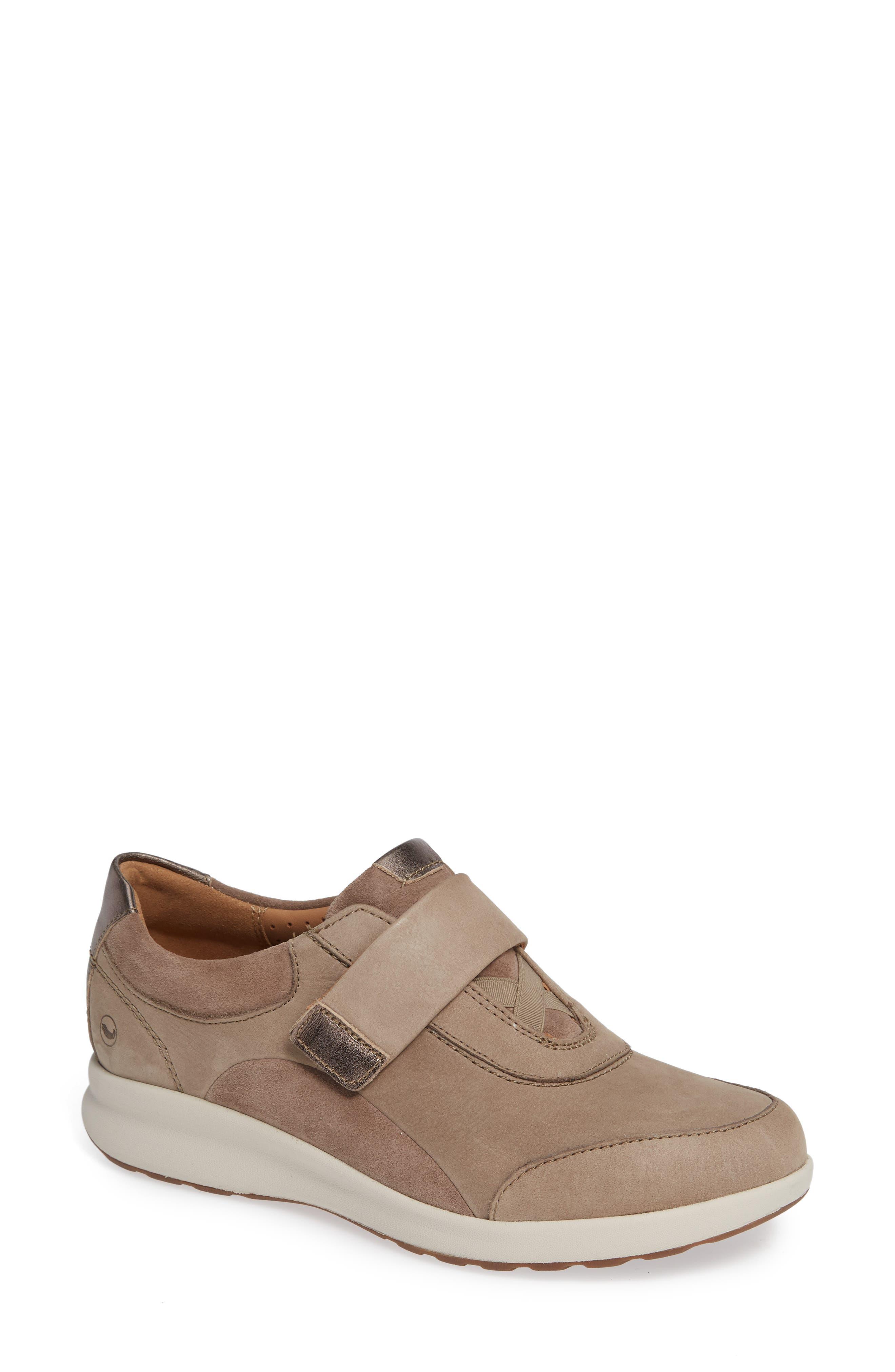 Un Adorn Lo Sneaker,                         Main,                         color, PEBBLE NUBUCK