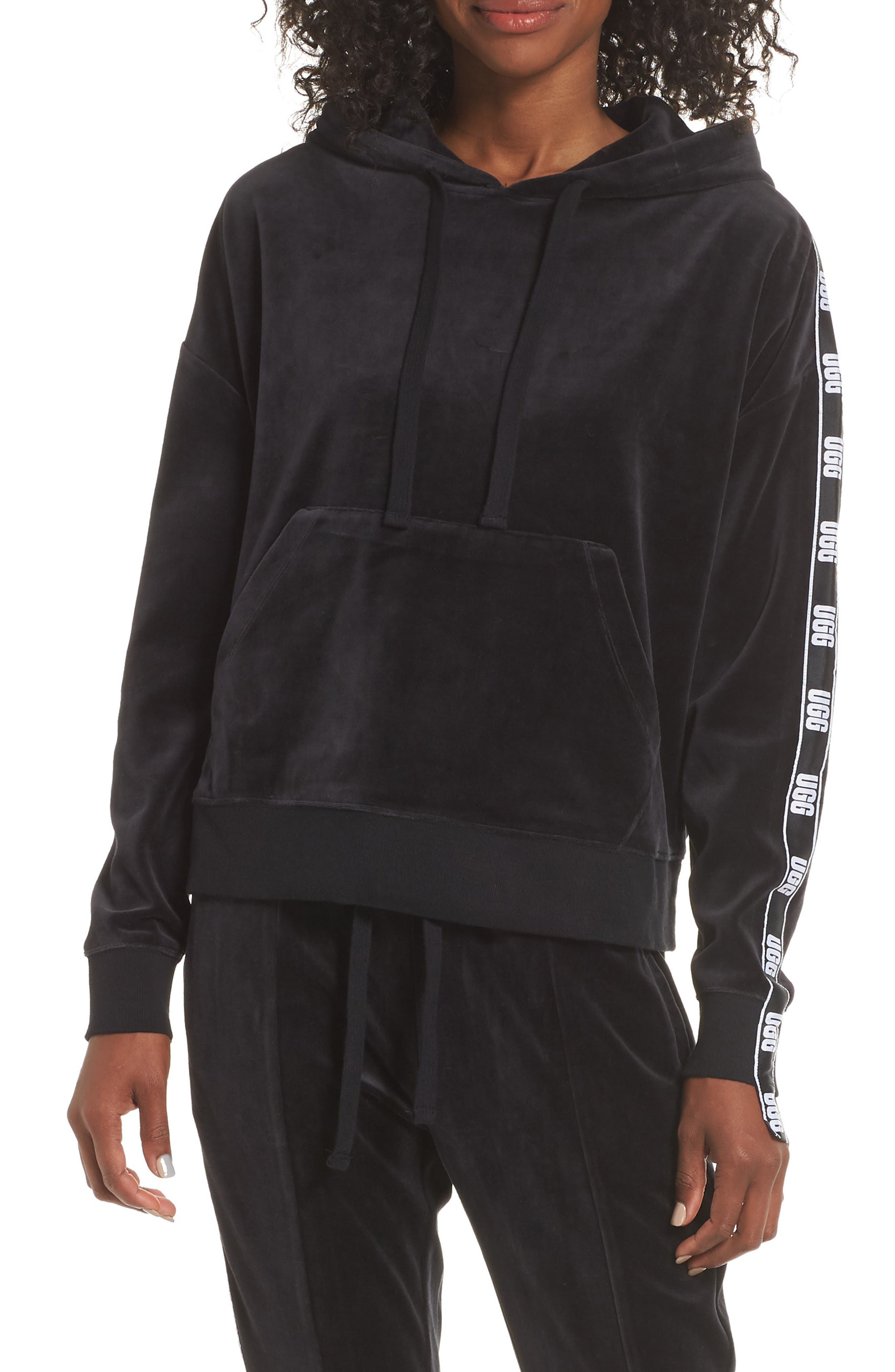 UGG<SUP>®</SUP>,                             Iris Track Jacket,                             Main thumbnail 1, color,                             001