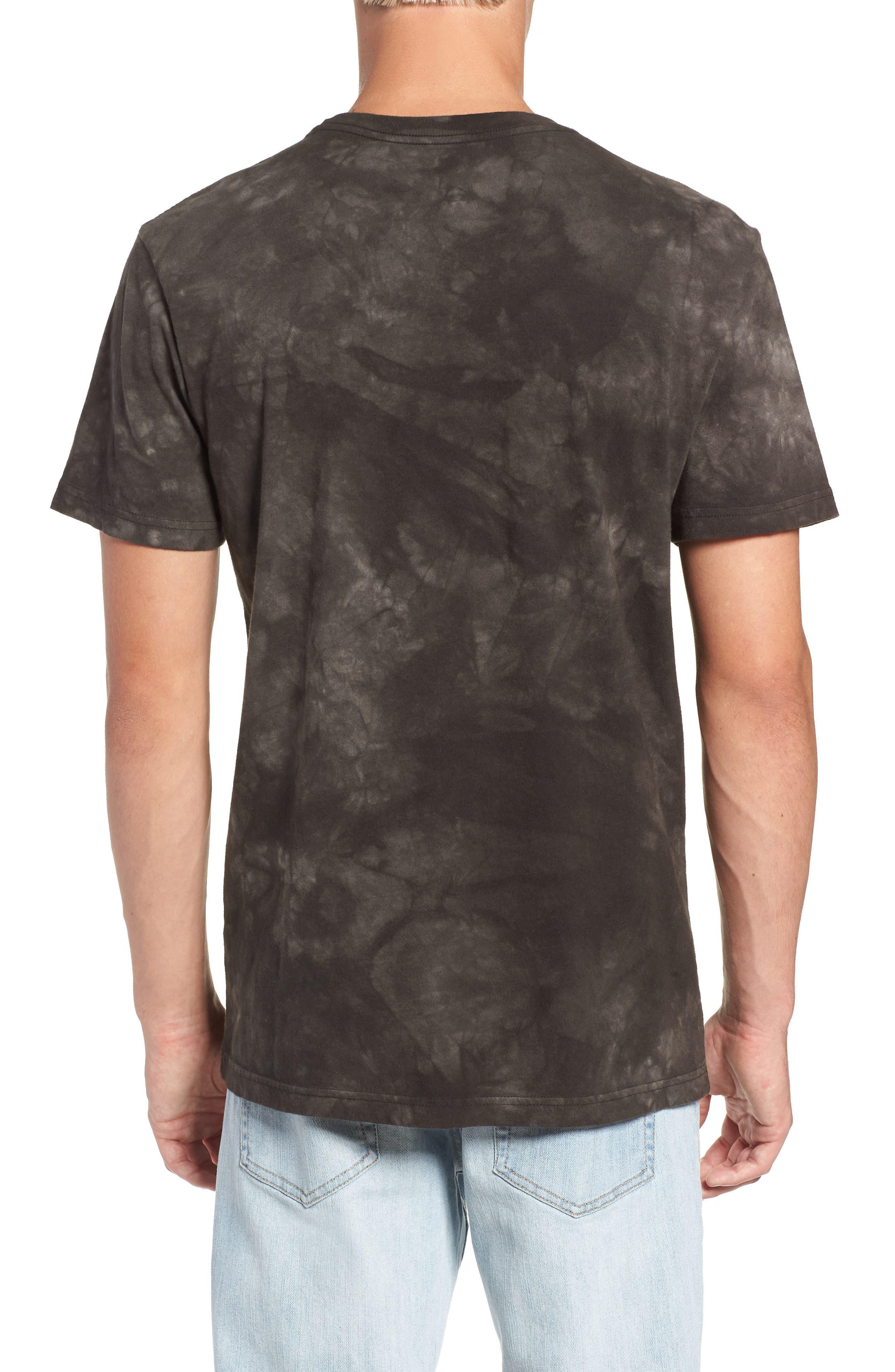 Center Graphic T-Shirt,                             Alternate thumbnail 2, color,                             PIRATE BLACK
