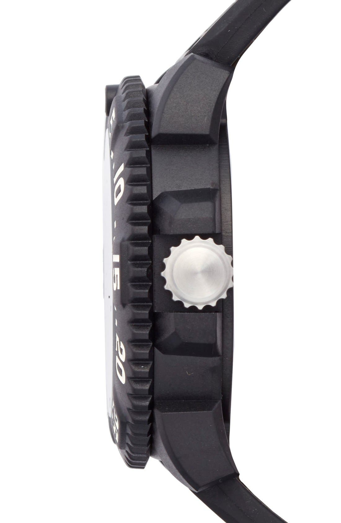 'Scott Cassell Special Edition' Polyurethane Strap Watch, 44mm,                             Alternate thumbnail 2, color,                             001