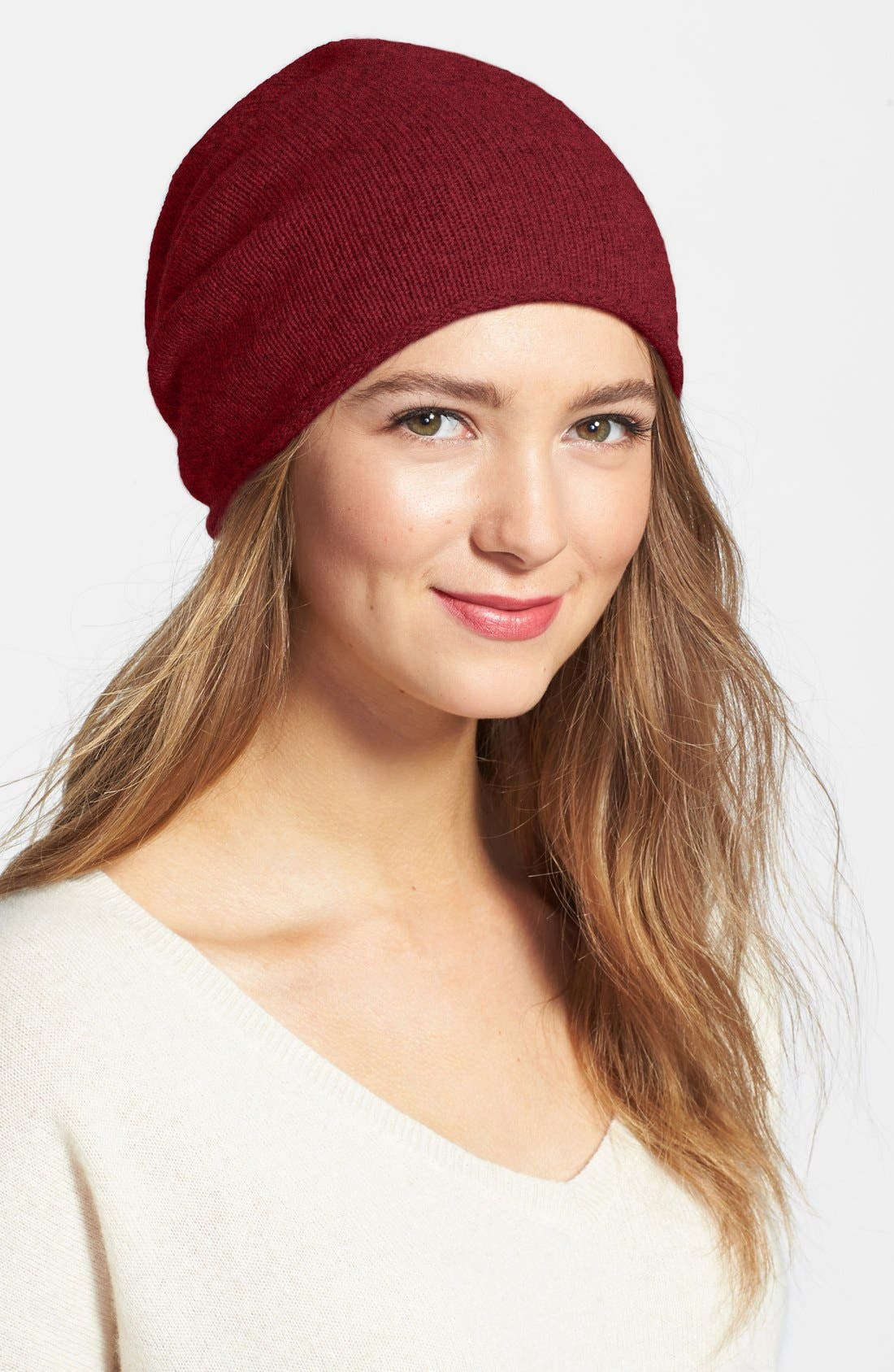 Slouchy Cashmere Beanie,                             Main thumbnail 18, color,