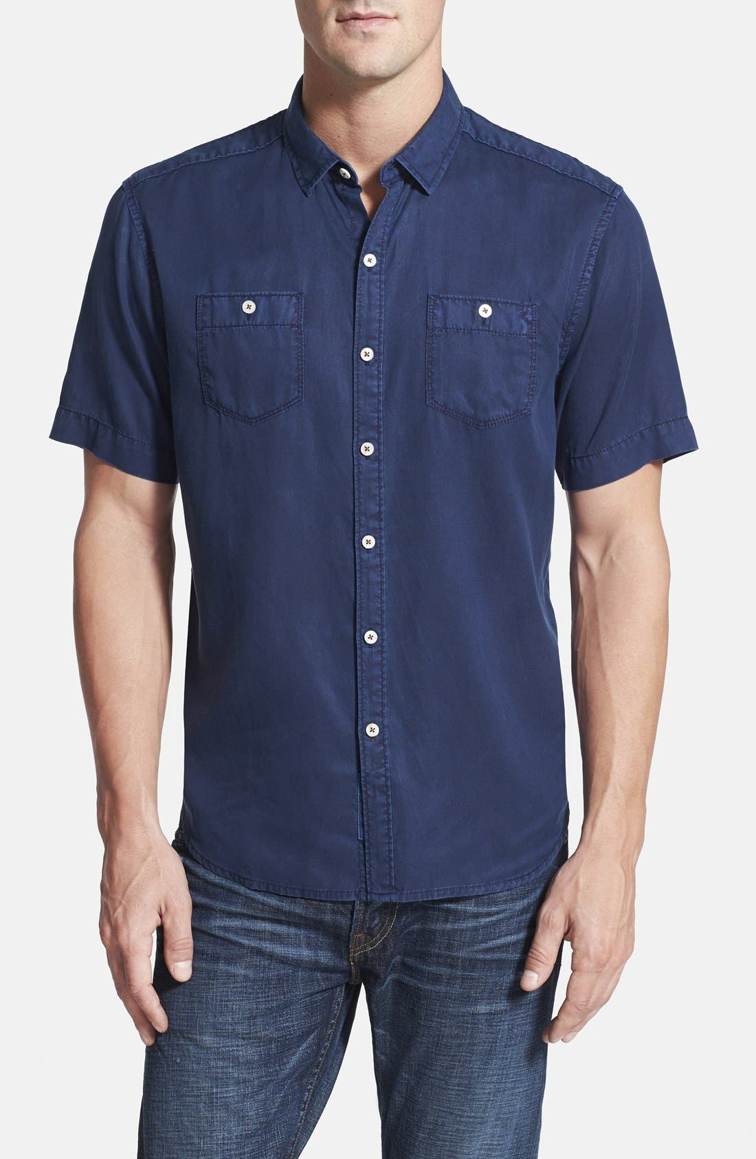 'New Twilly' Island Modern Fit Short Sleeve Twill Shirt,                             Main thumbnail 10, color,
