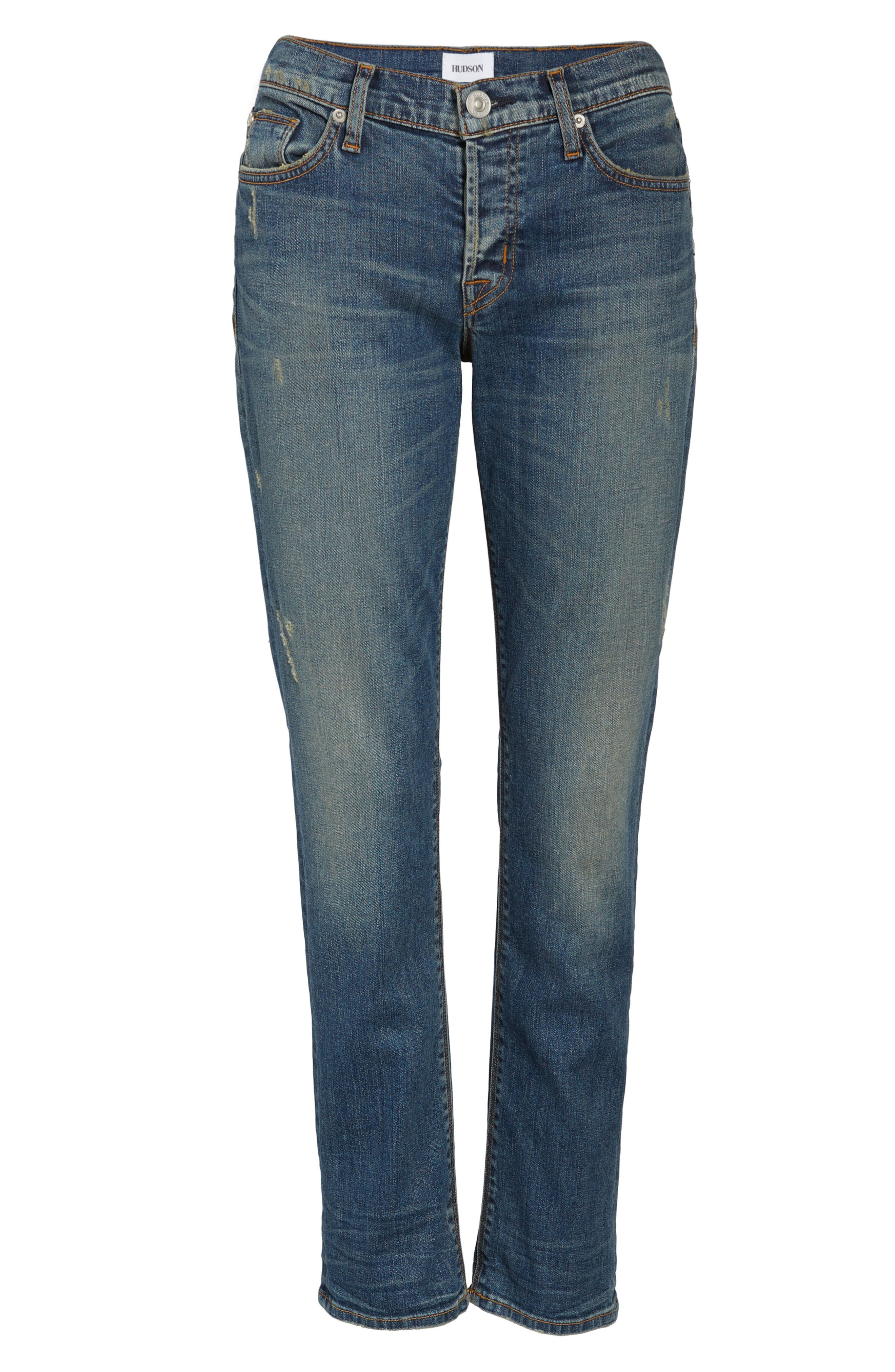 Crop Riley Relaxed Straight Leg Jeans,                             Alternate thumbnail 12, color,