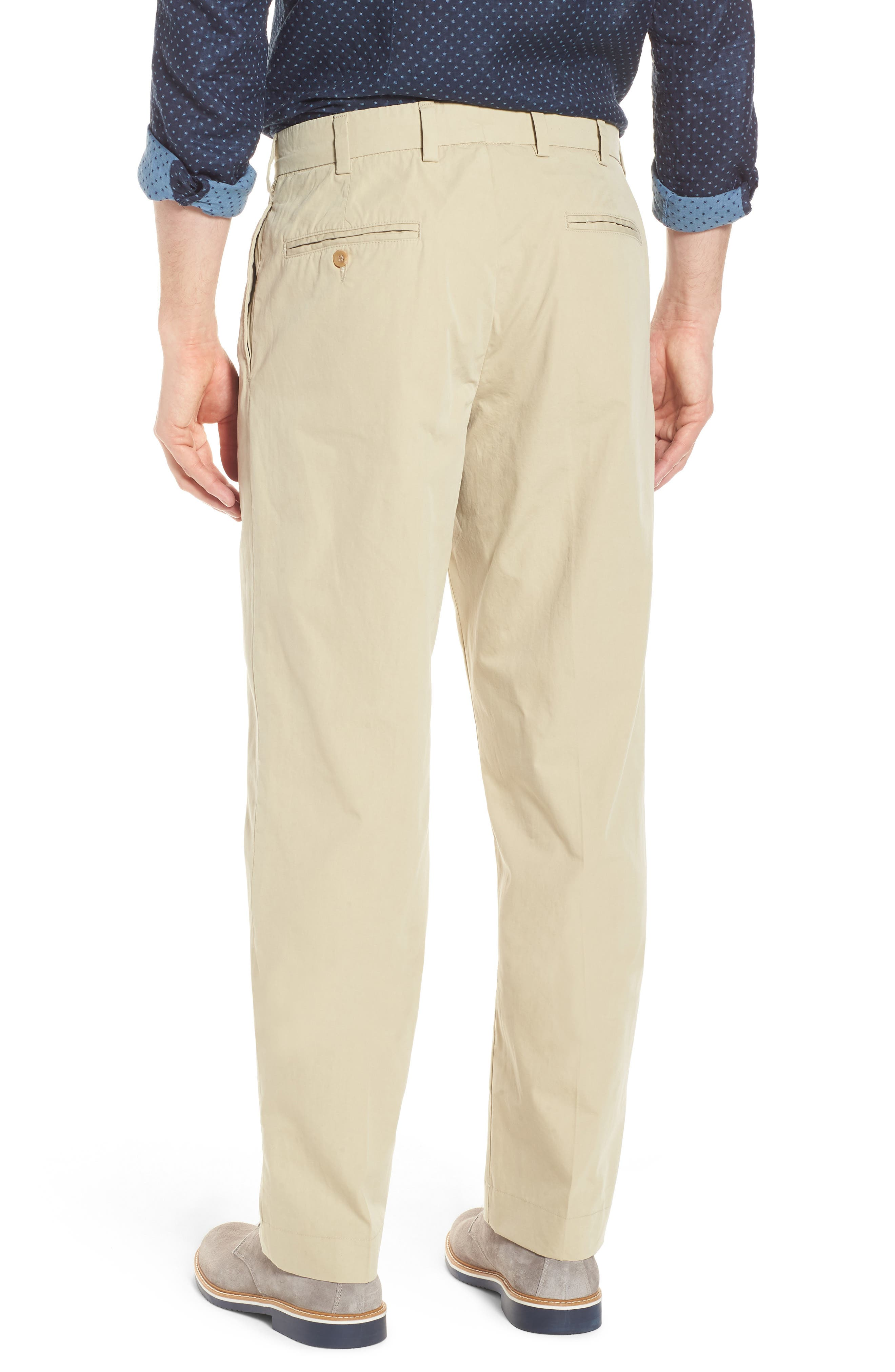 Classic Fit Pleated Tropical Poplin Pants,                             Alternate thumbnail 2, color,                             KHAKI