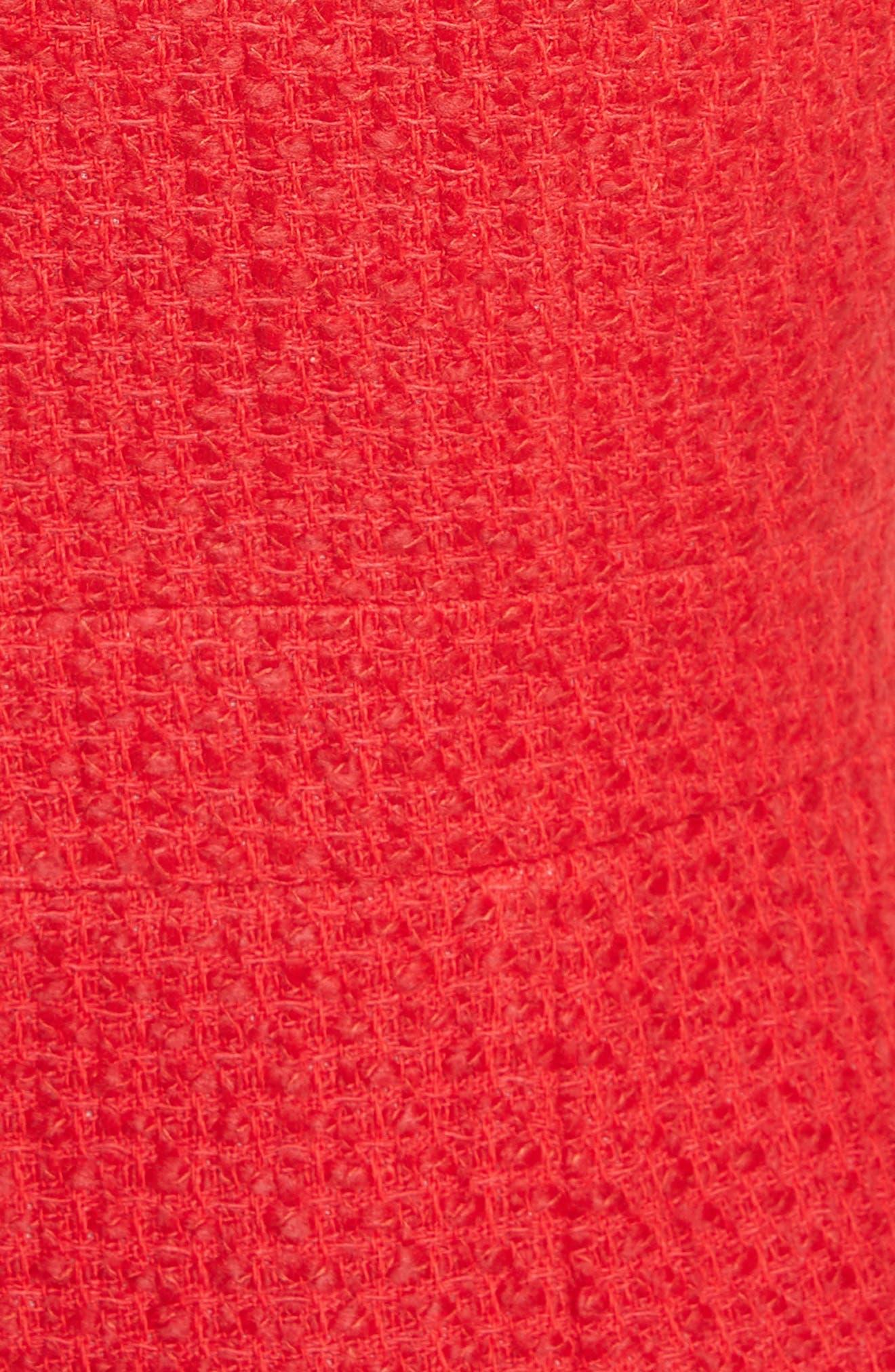 ruffle hem tweed dress,                             Alternate thumbnail 5, color,