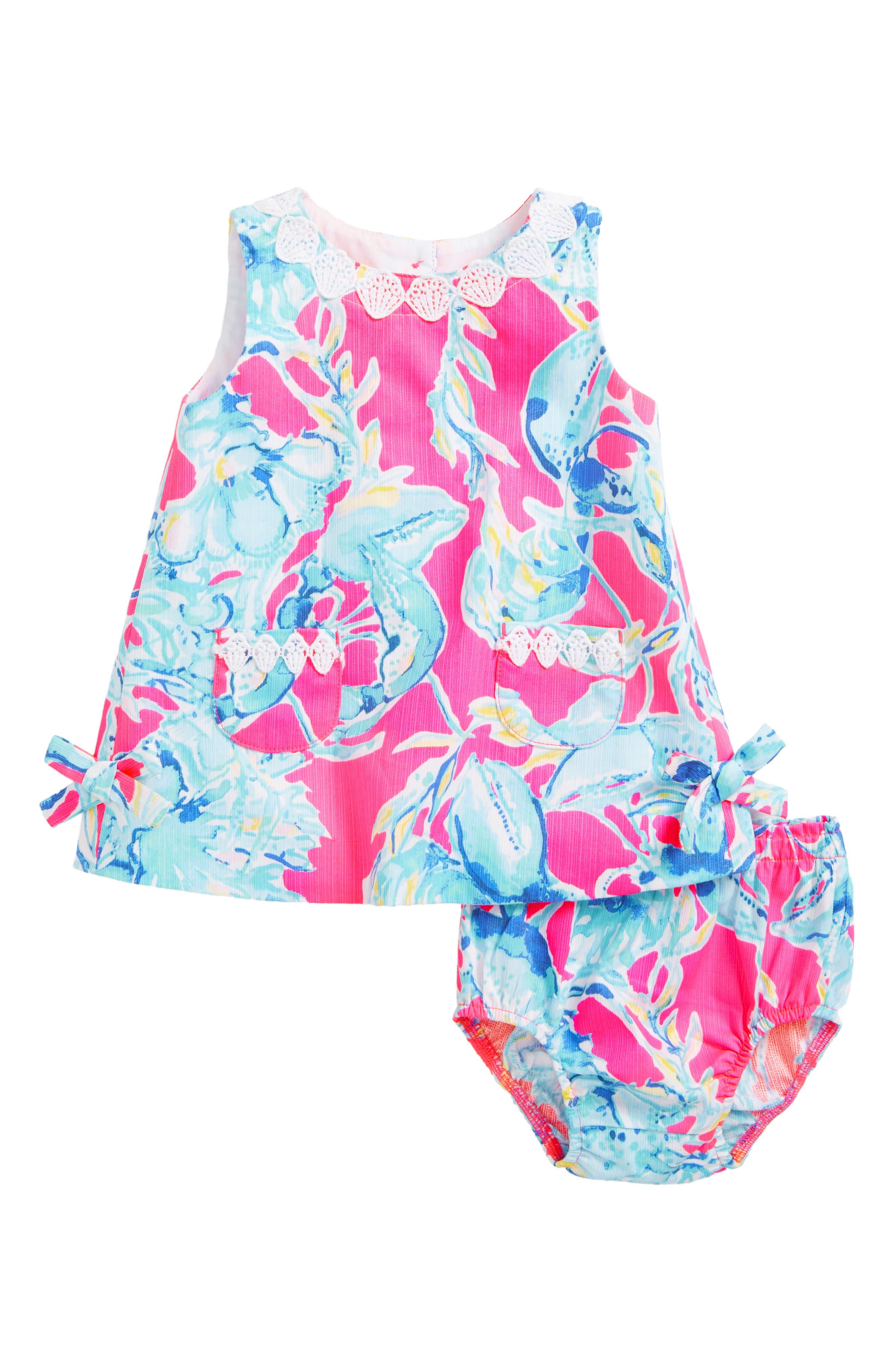 LILLY PULITZER<SUP>®</SUP>,                             Baby Lilly Shift Dress,                             Main thumbnail 1, color,                             651