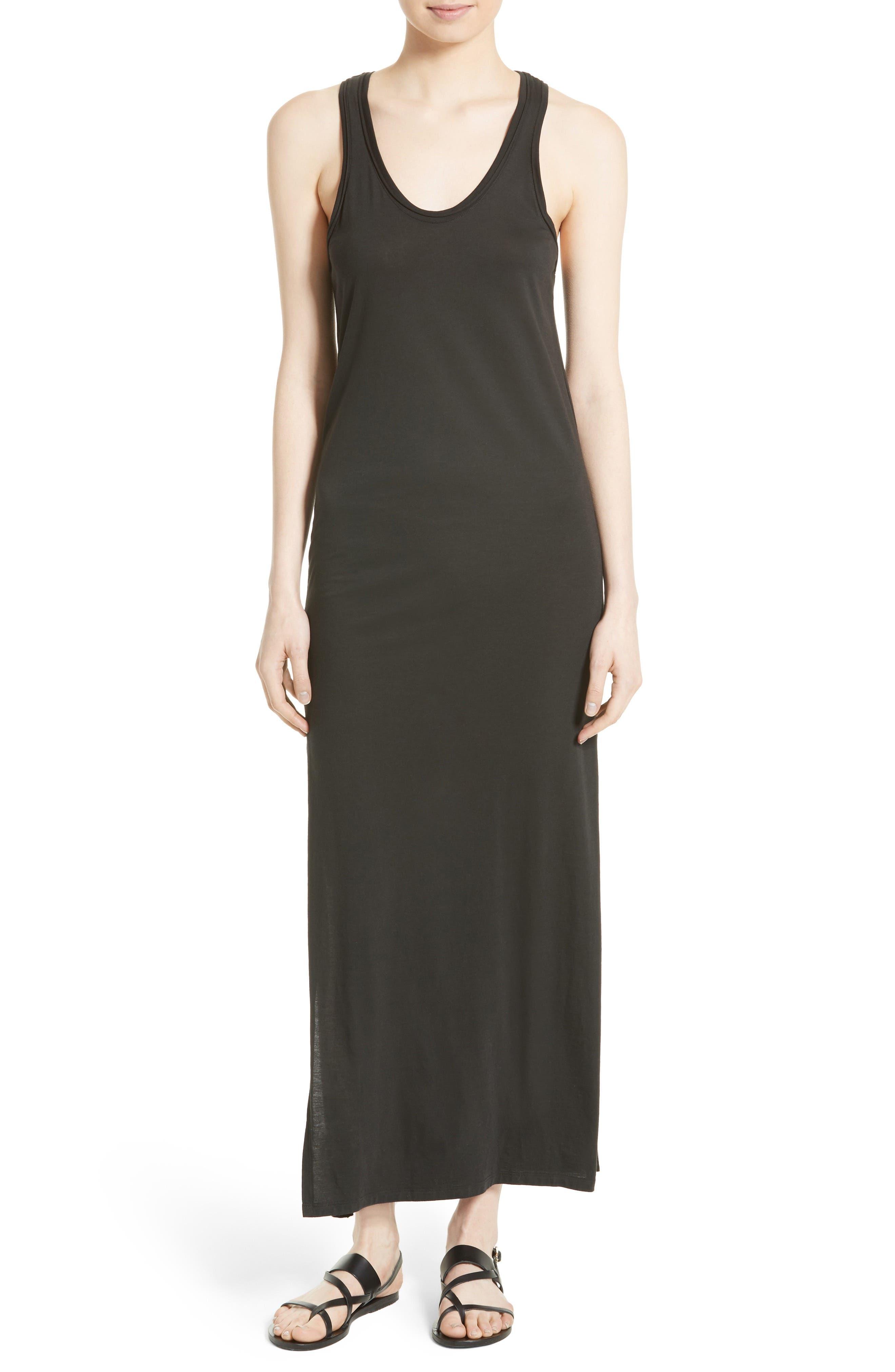 Sameetha Plume Jersey Maxi Dress,                             Main thumbnail 1, color,                             001
