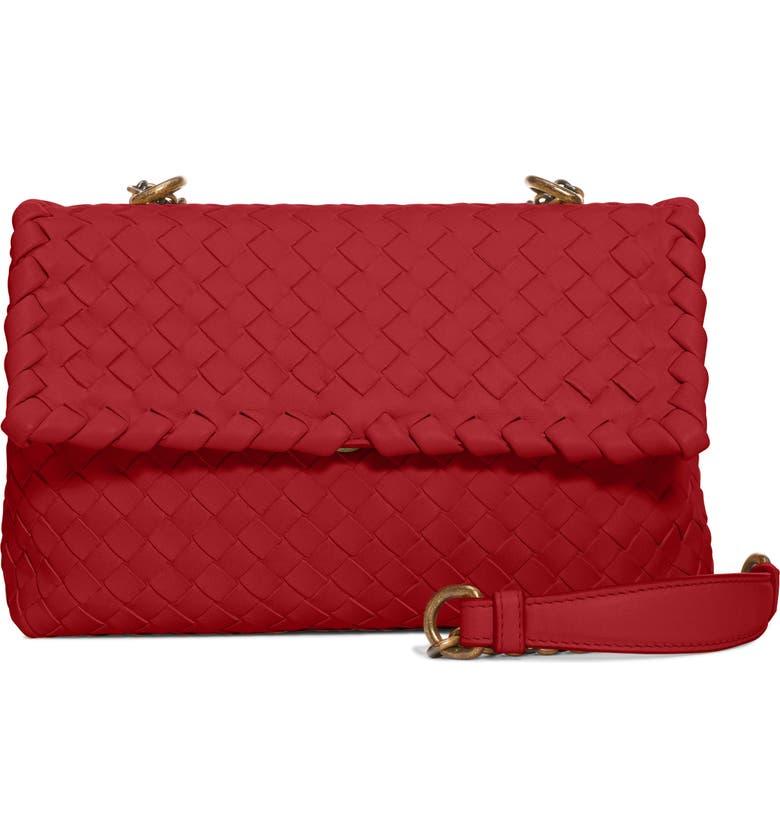 de49c6ec1835 Bottega Veneta Baby Olimpia Leather Shoulder Bag