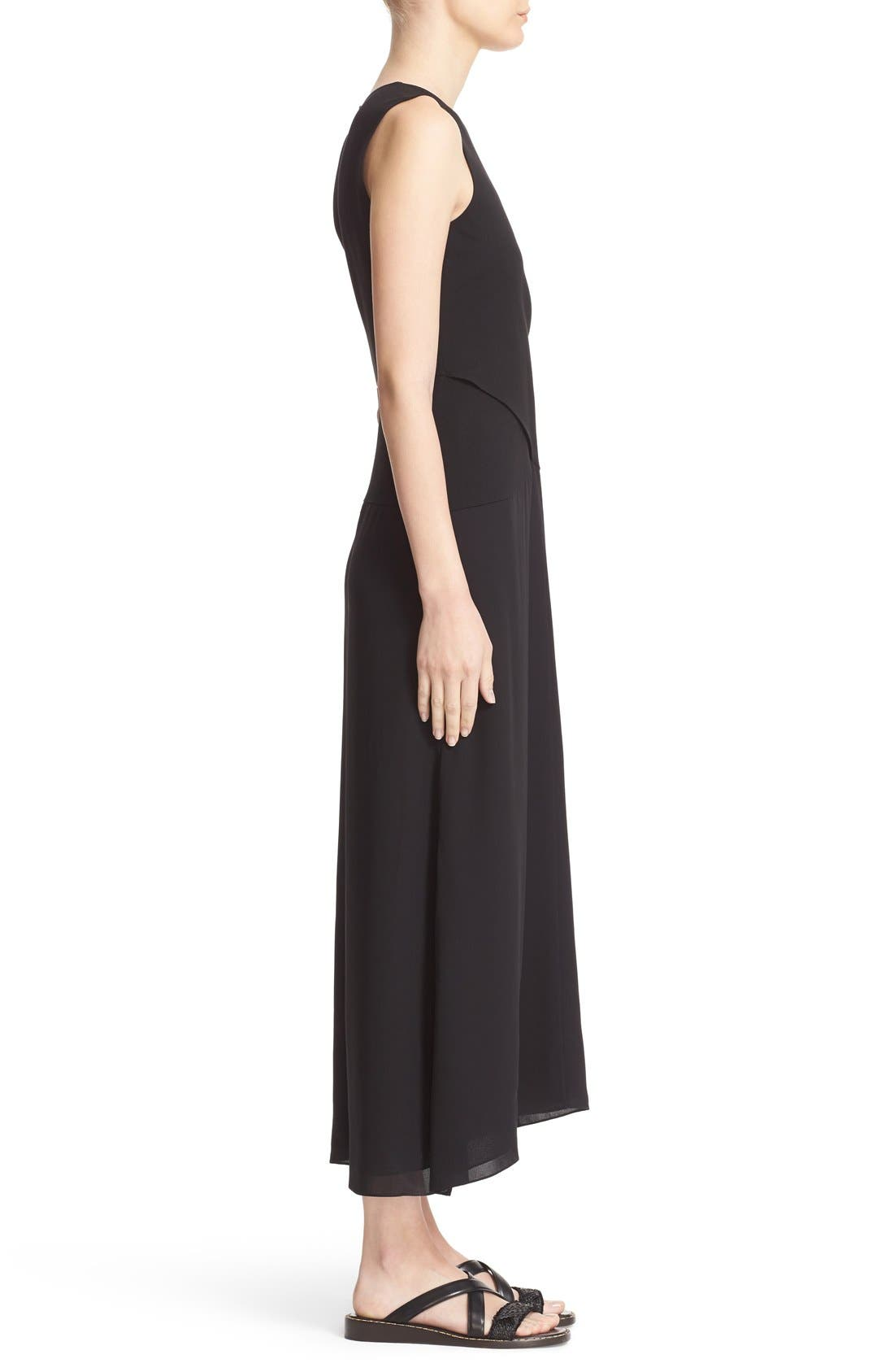 Parthenia Asymmetrical Midi Dress,                             Alternate thumbnail 3, color,                             001