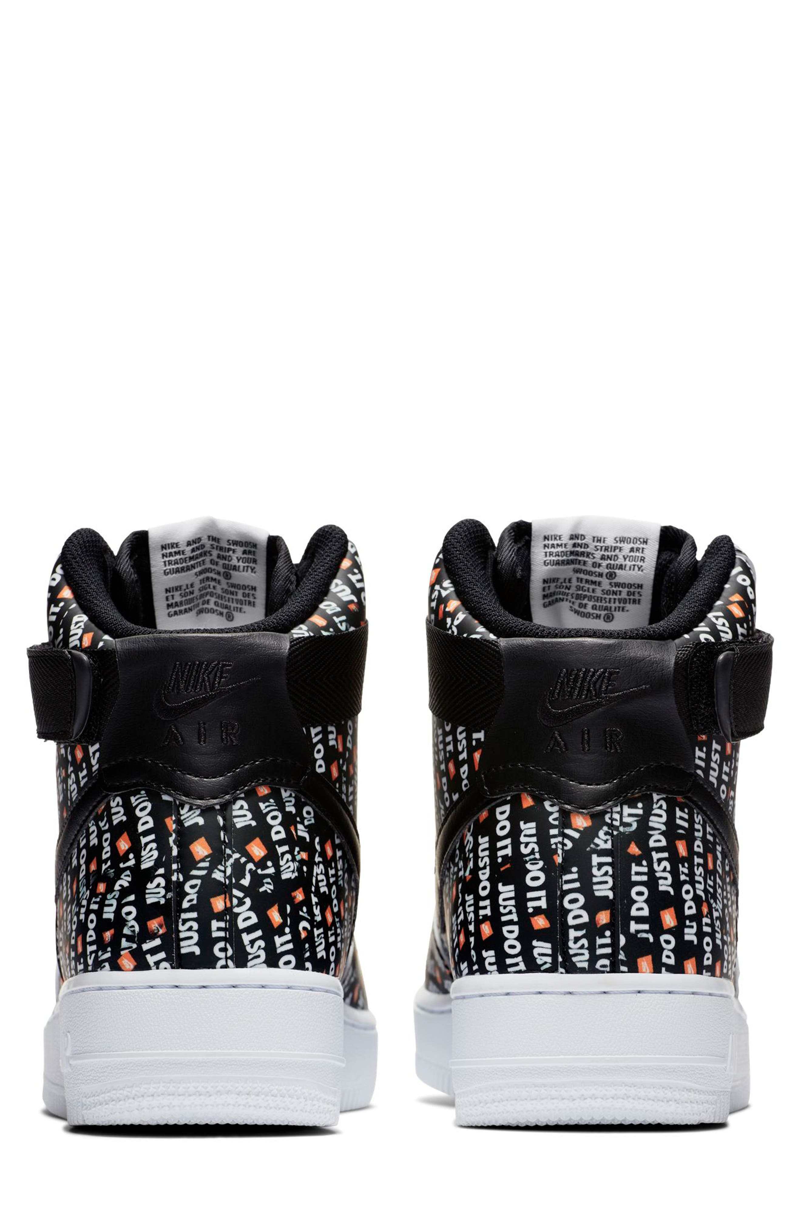 Air Force 1 High LX High Top Sneaker,                             Alternate thumbnail 2, color,                             BLACK