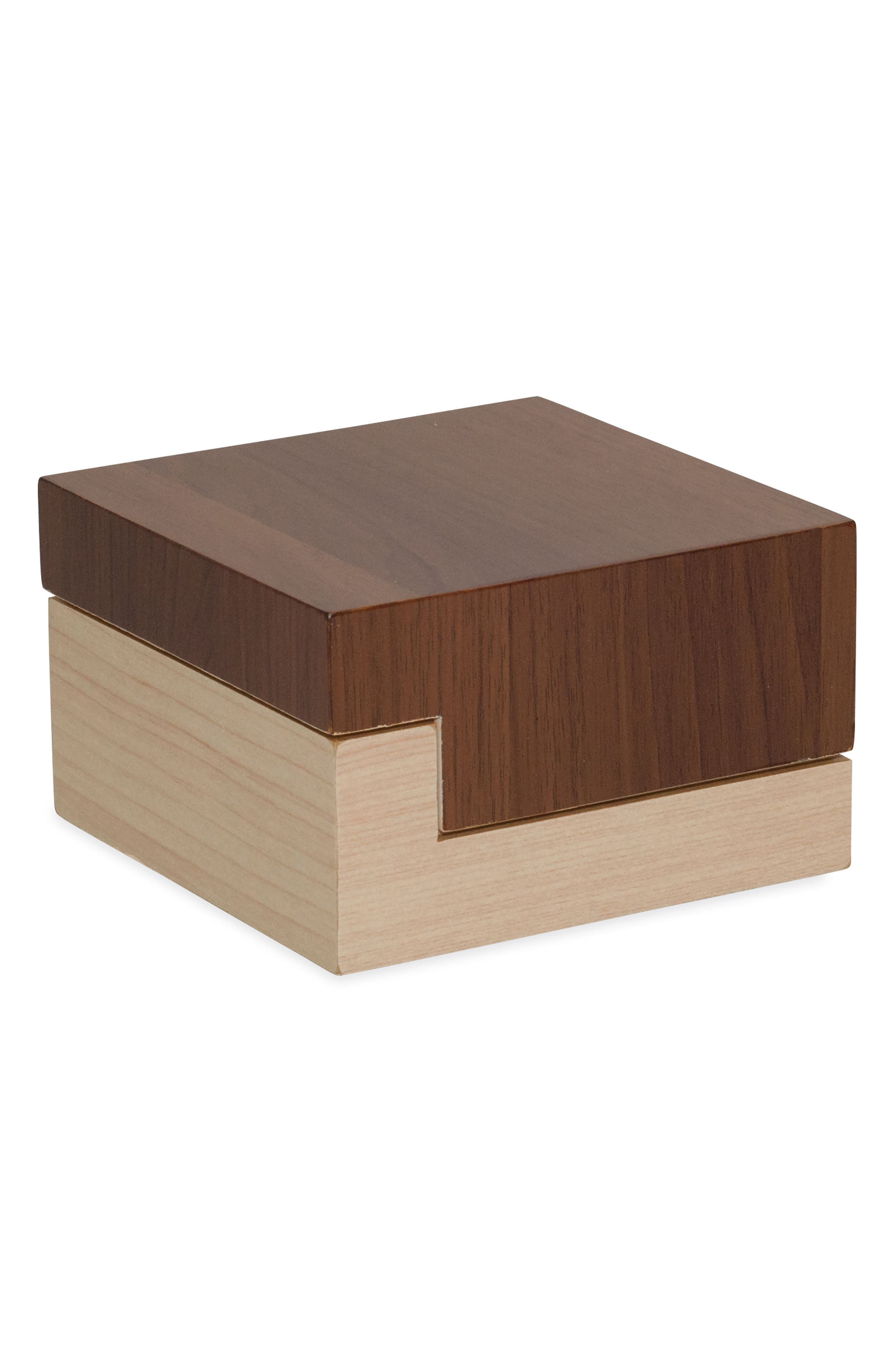 Wood Block Covered Jar,                         Main,                         color,