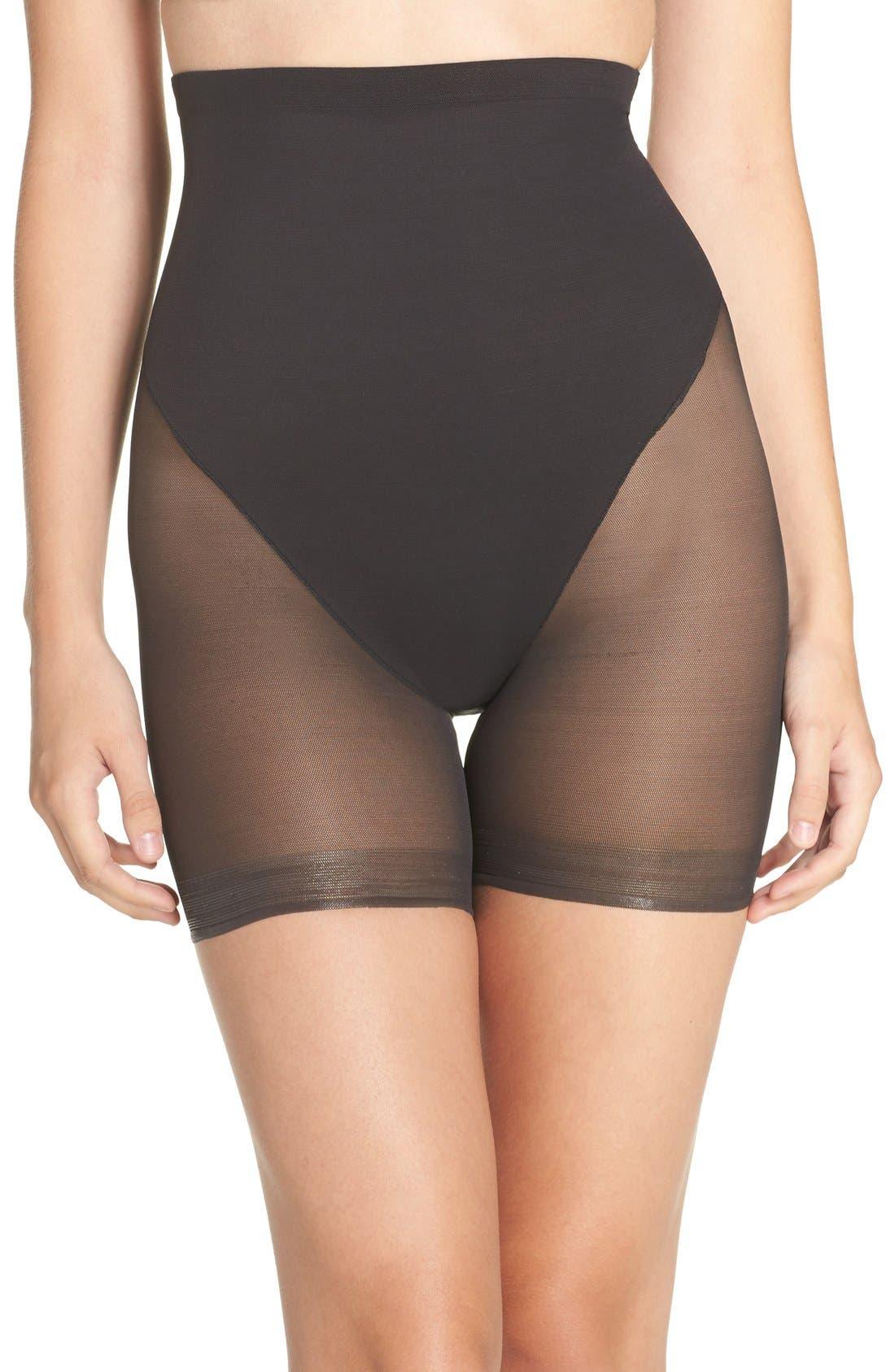 High Waist Shaping Shorts,                             Main thumbnail 1, color,