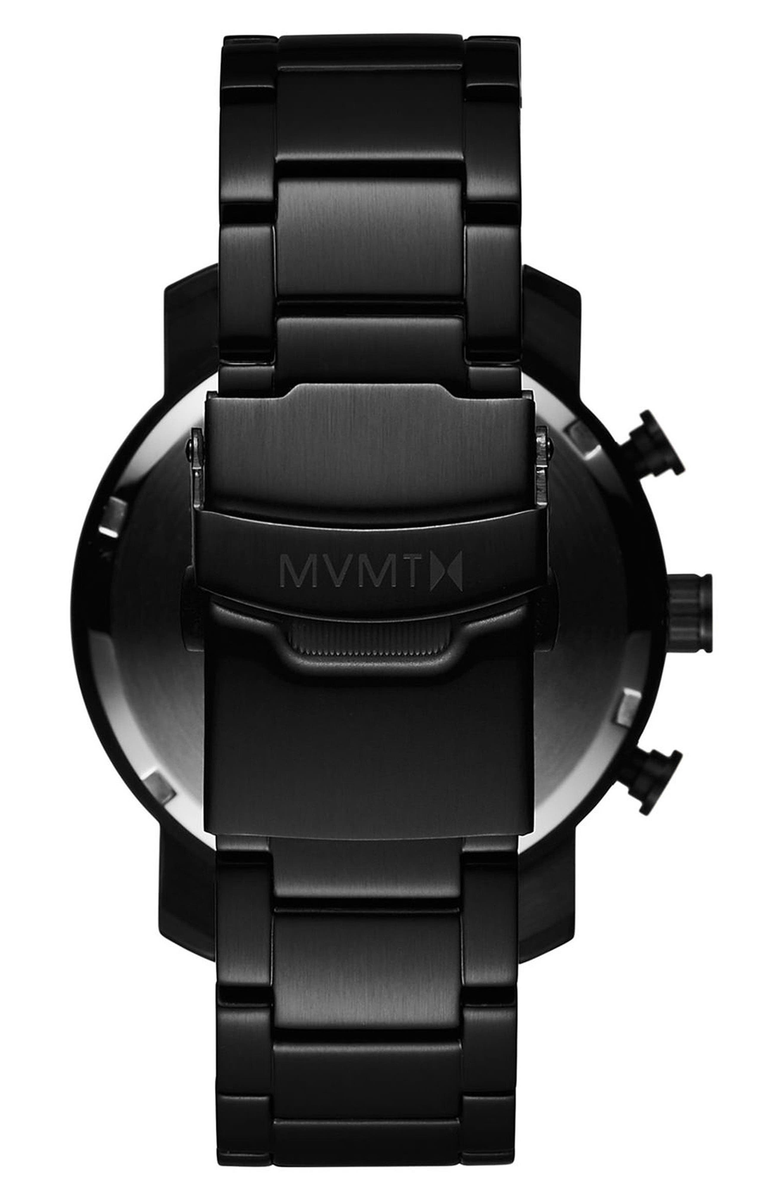 Chrono Chronograph Bracelet Watch, 40mm,                             Alternate thumbnail 2, color,                             ALL BLACK