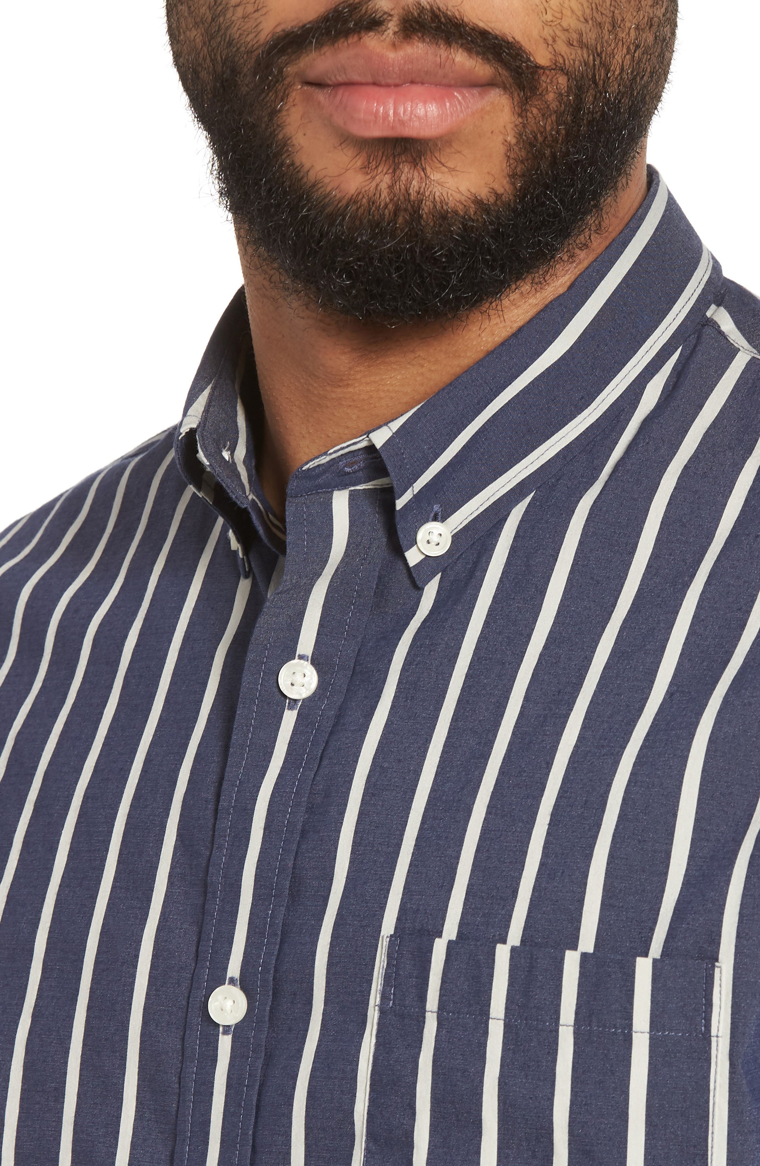 Regular Fit Stretch Short Sleeve Sport Shirt,                             Alternate thumbnail 4, color,                             463