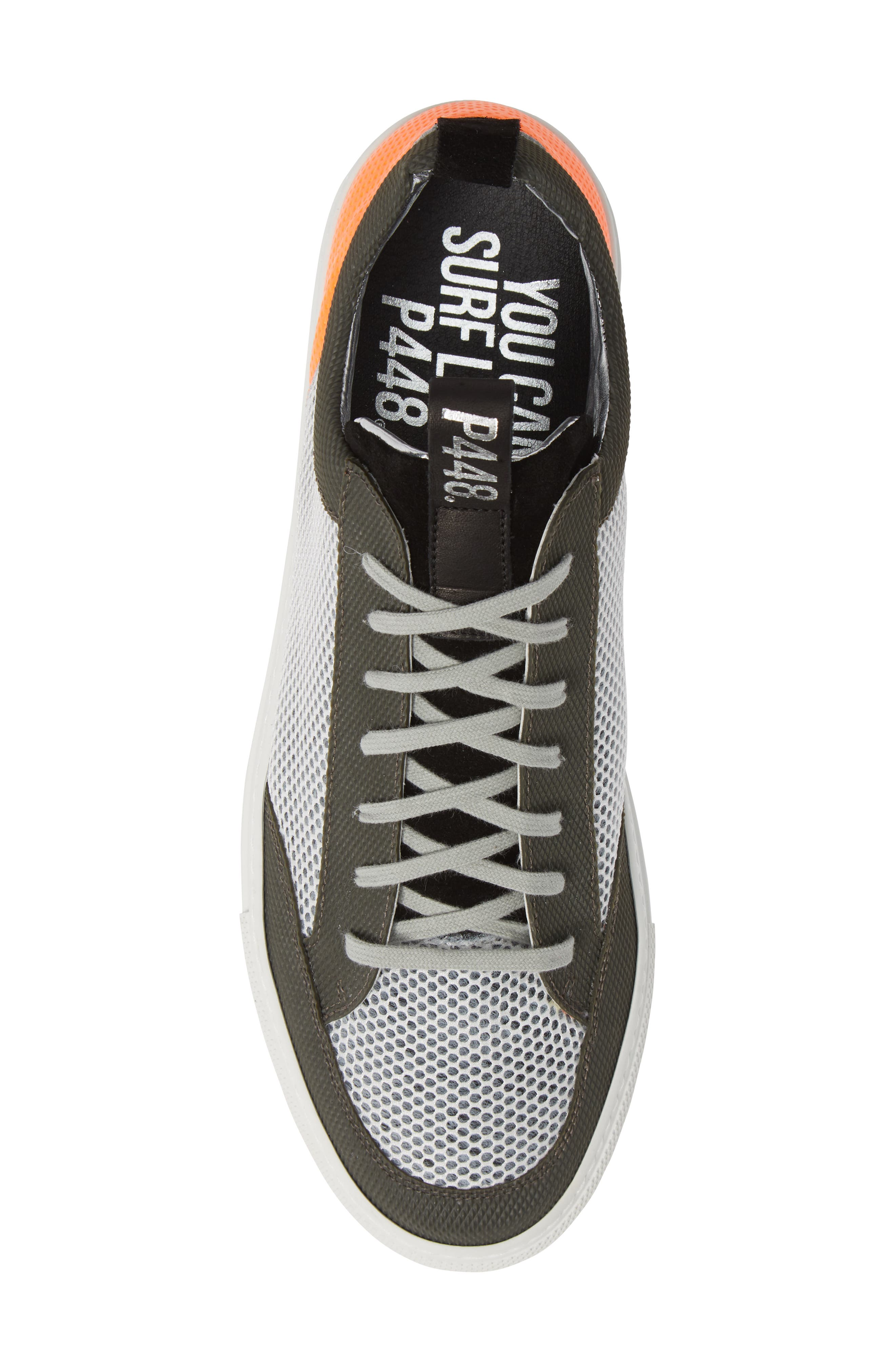 A8Soho Textured Sneaker,                             Alternate thumbnail 5, color,                             WHITE/ GREY