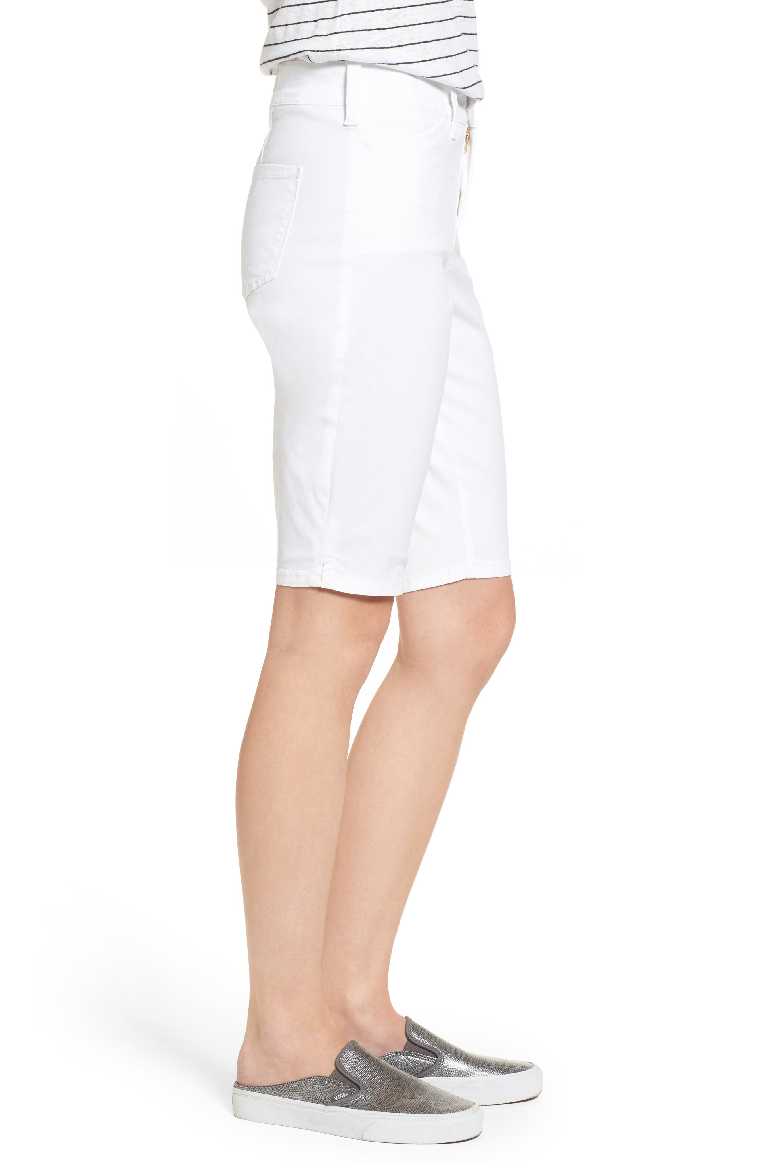 Stretch Twill Bermuda Shorts,                             Alternate thumbnail 3, color,                             OPTIC WHITE